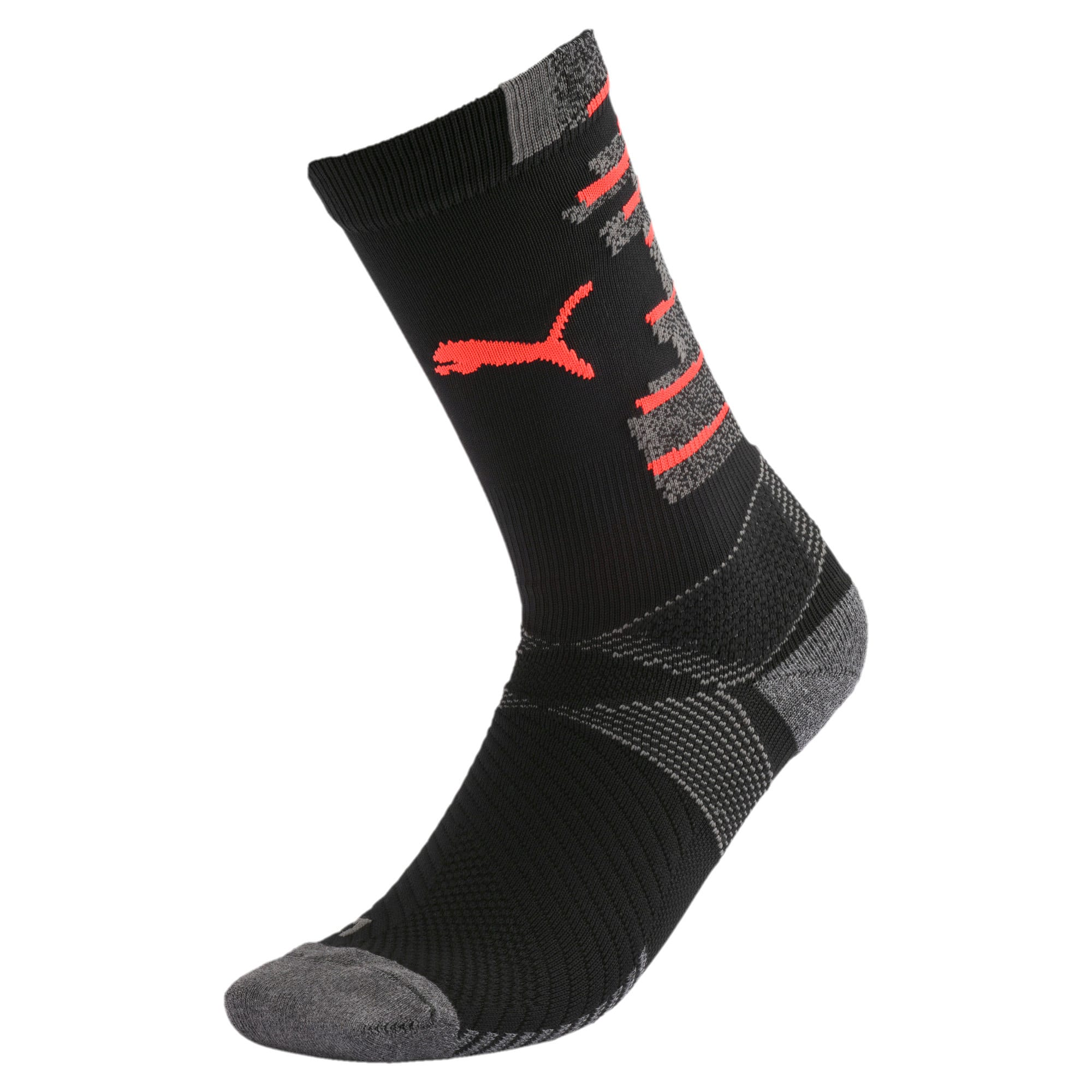 Thumbnail 1 of ftblNXT Men's Socks, Puma Black-Nrgy Red, medium
