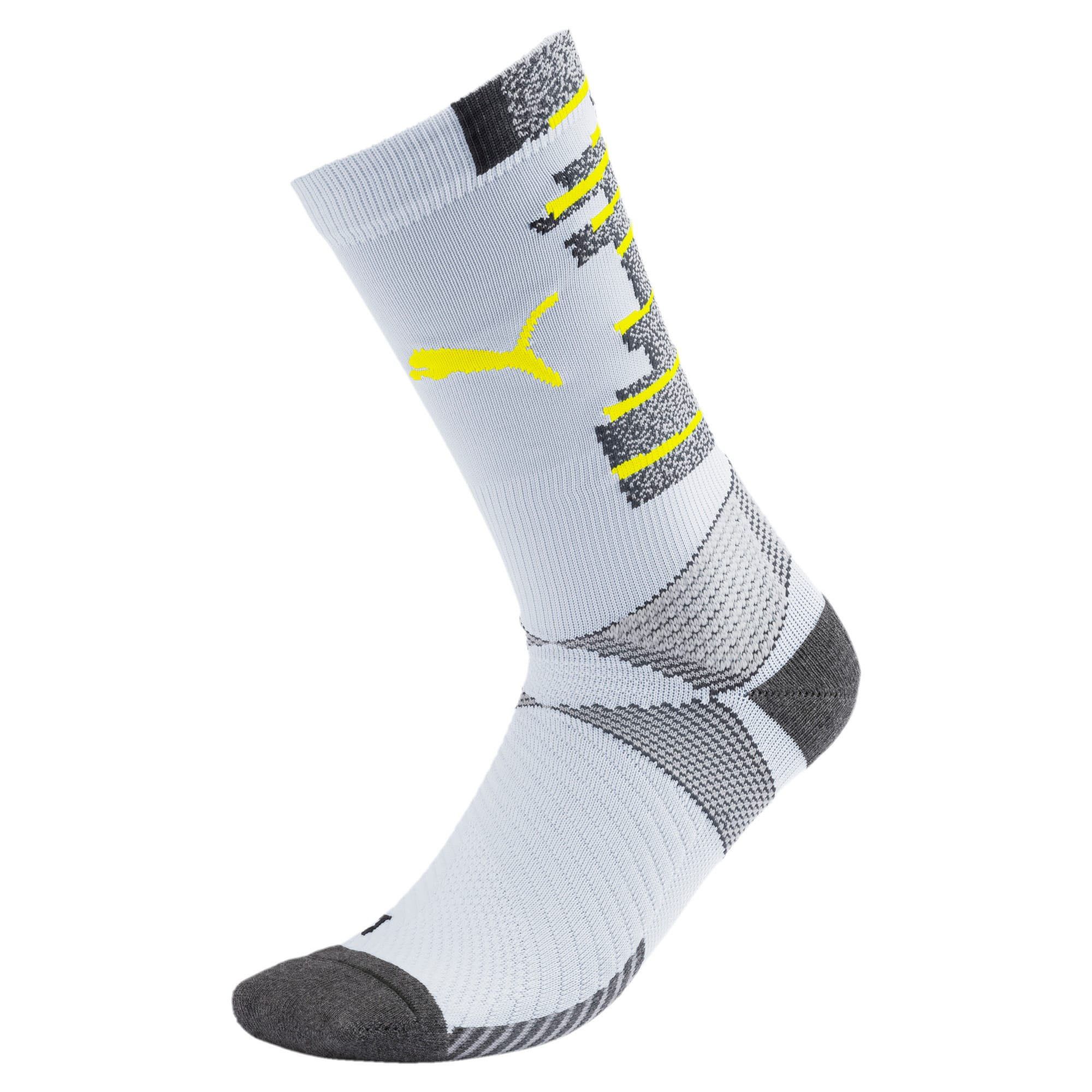 ftblNXT Men's Socks, Grey Dawn-Yellow Alert, large
