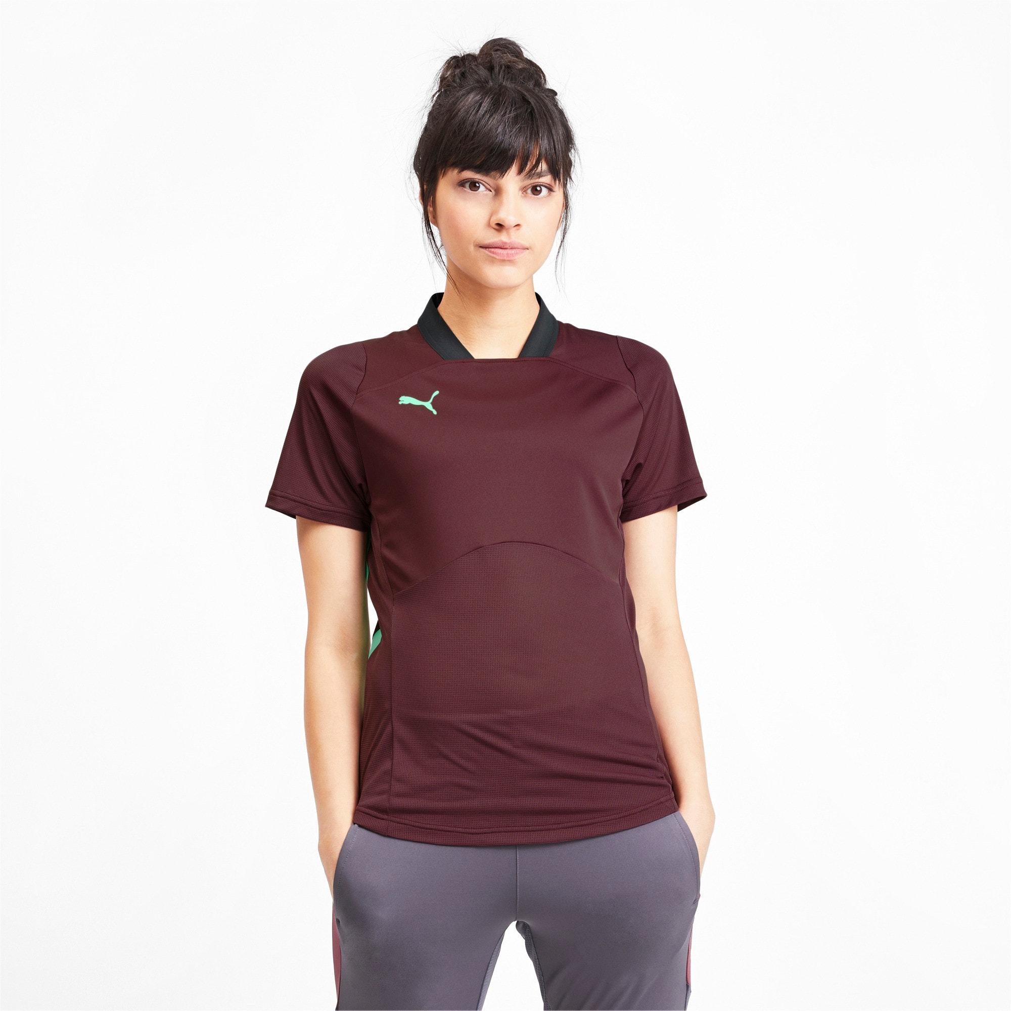 Thumbnail 1 van ftblNXT Pro voetbalshirt voor vrouwen, Vineyard Wine-Green Glimmer, medium