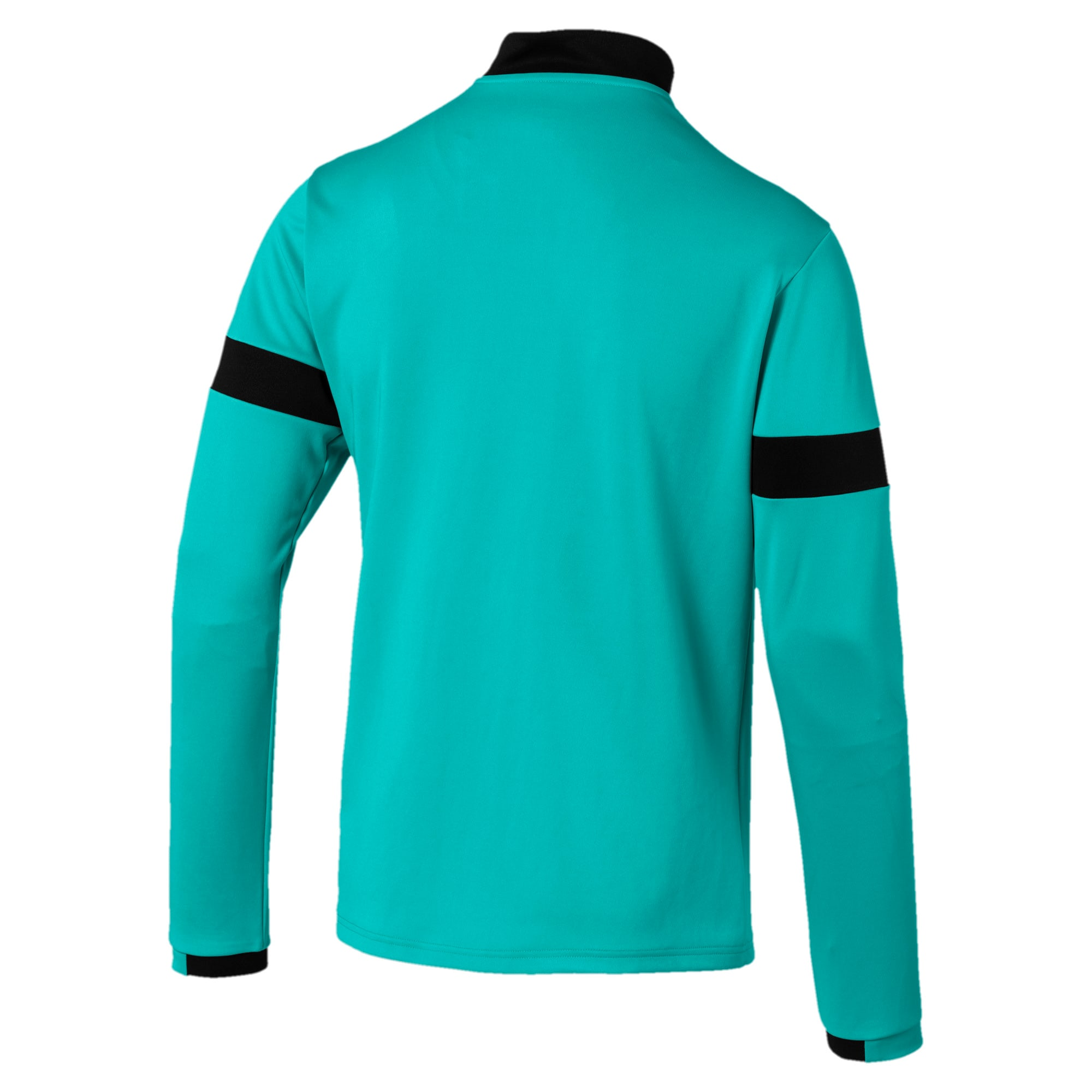 Thumbnail 5 of Trainingsjack met korte rits voor heren, Blue Turquoise-Puma Black, medium