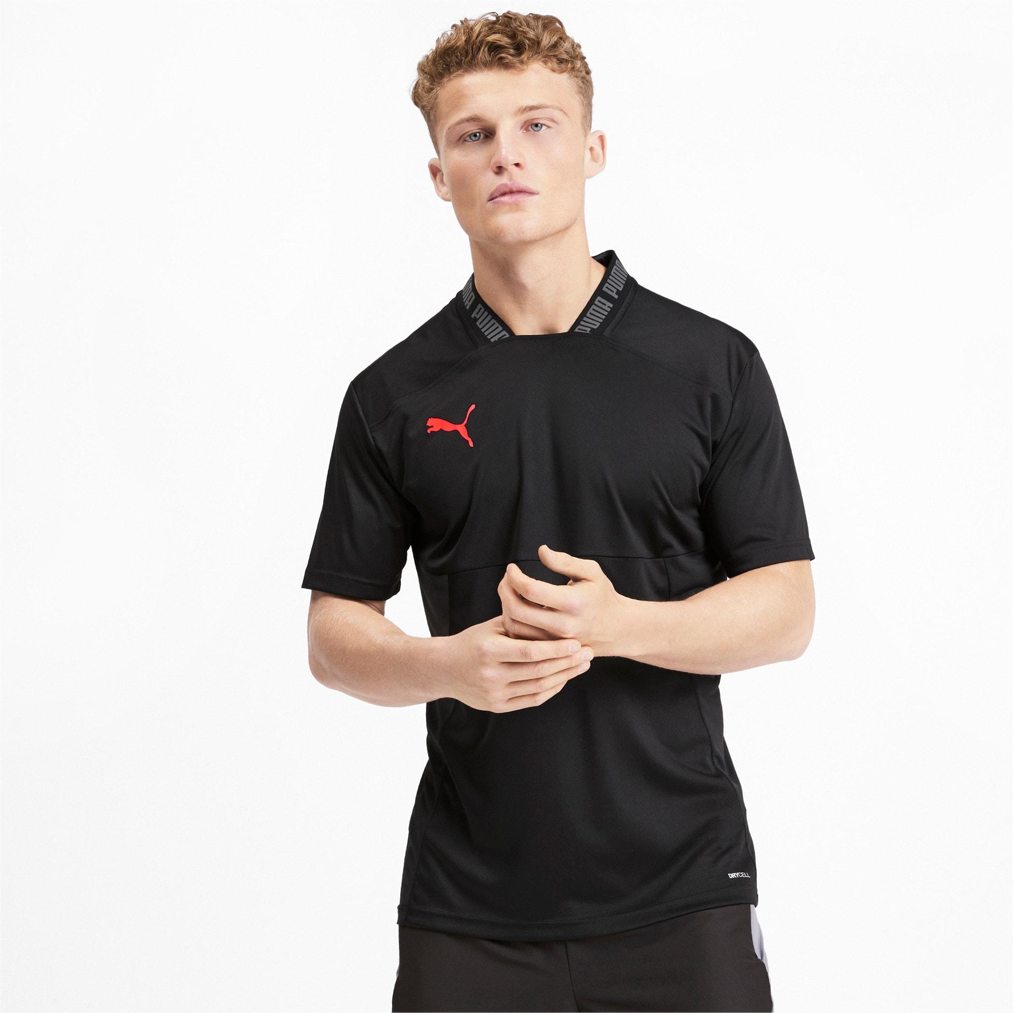 Thumbnail 1 of Colour Shift Men's Shirt, Puma Black-Nrgy Red, medium