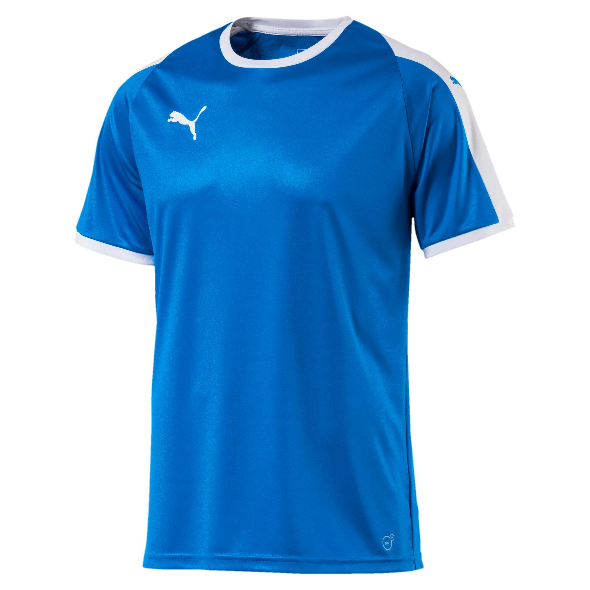Thumbnail 4 of Liga shirt voor heren, Electric Blue Lemonade-White, medium
