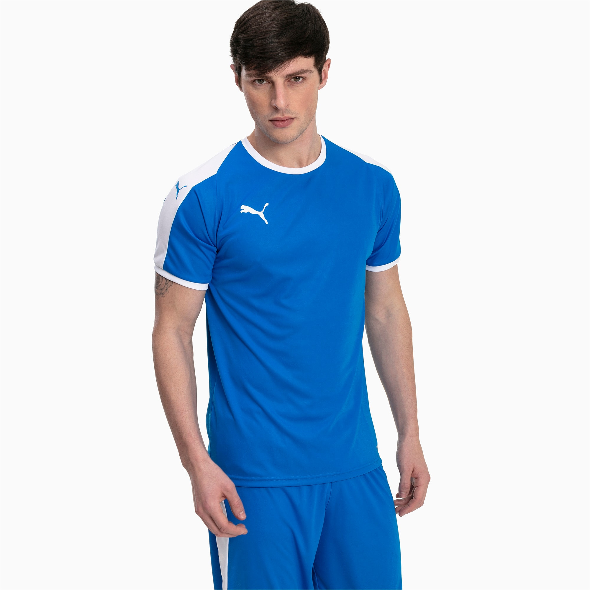 Thumbnail 1 of Liga shirt voor heren, Electric Blue Lemonade-White, medium
