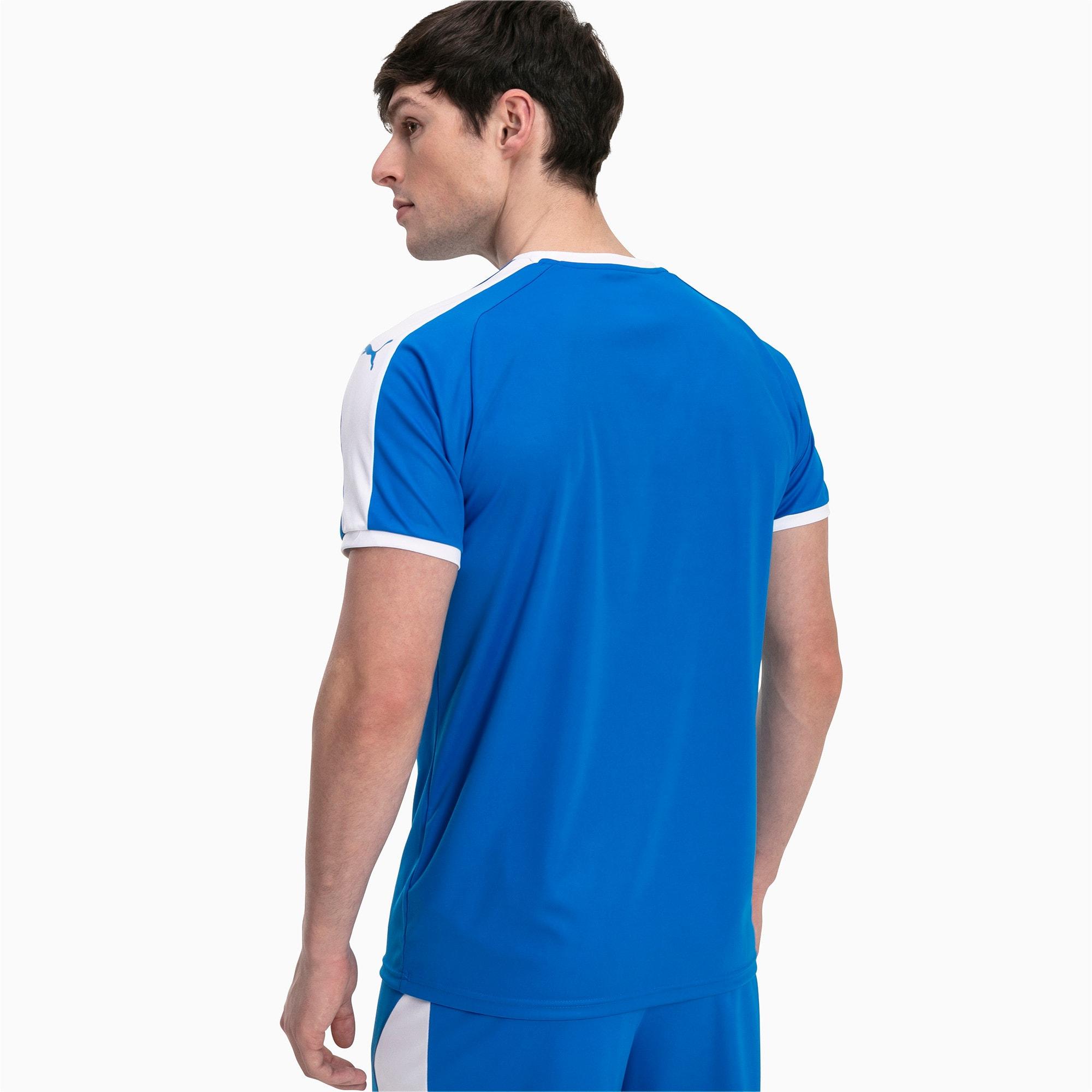 Thumbnail 2 of Liga shirt voor heren, Electric Blue Lemonade-White, medium