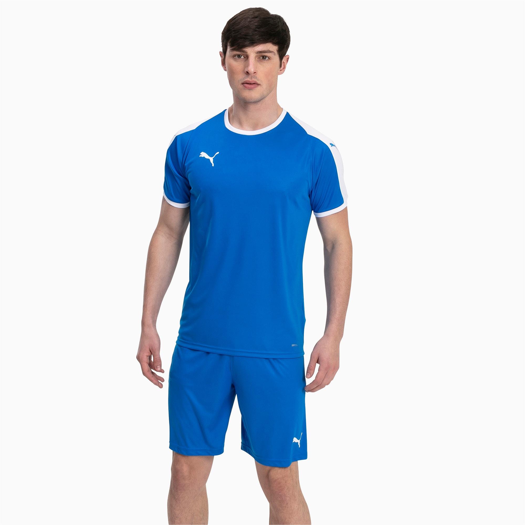 Thumbnail 3 of Liga shirt voor heren, Electric Blue Lemonade-White, medium