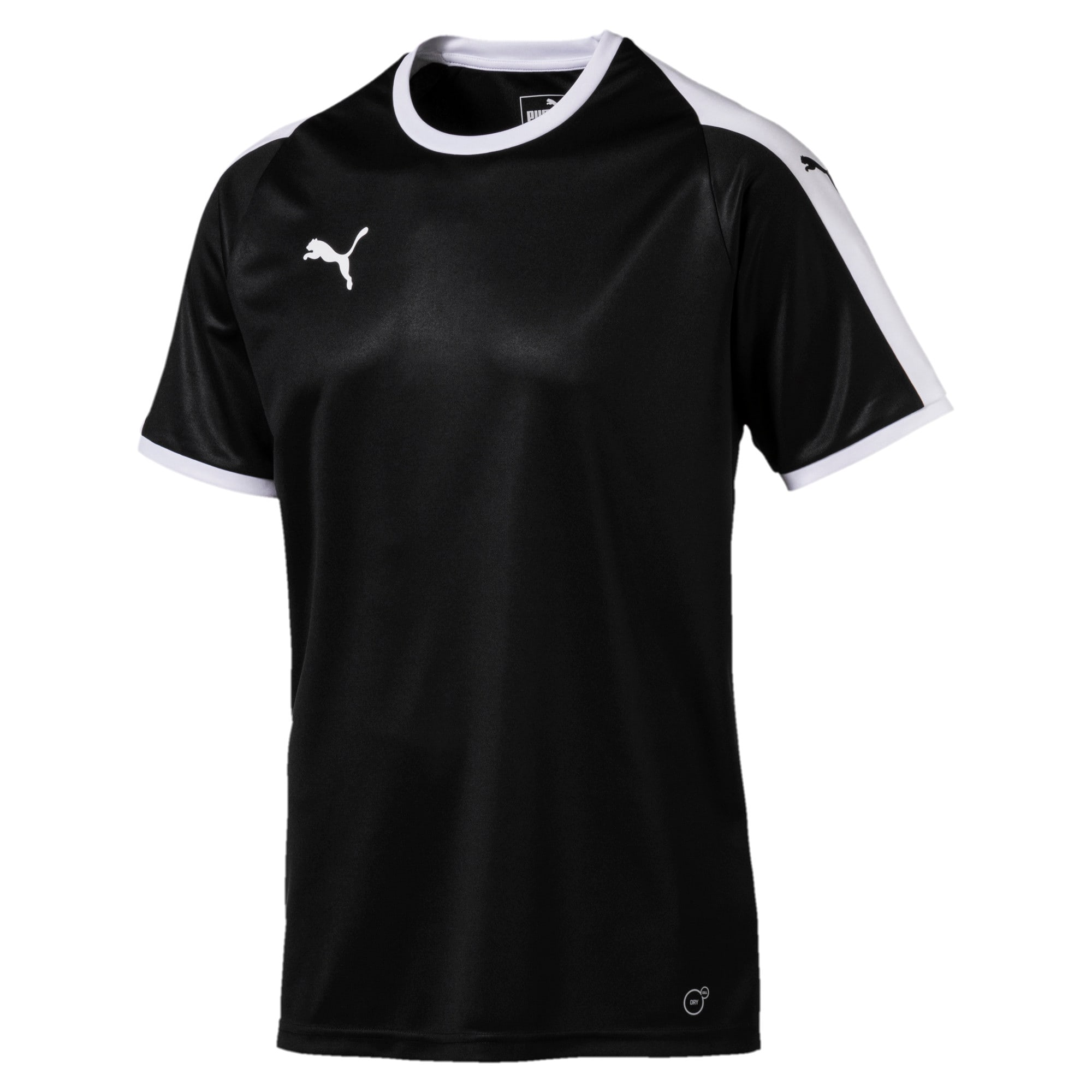 Thumbnail 4 of Liga shirt voor heren, Puma Black-Puma White, medium