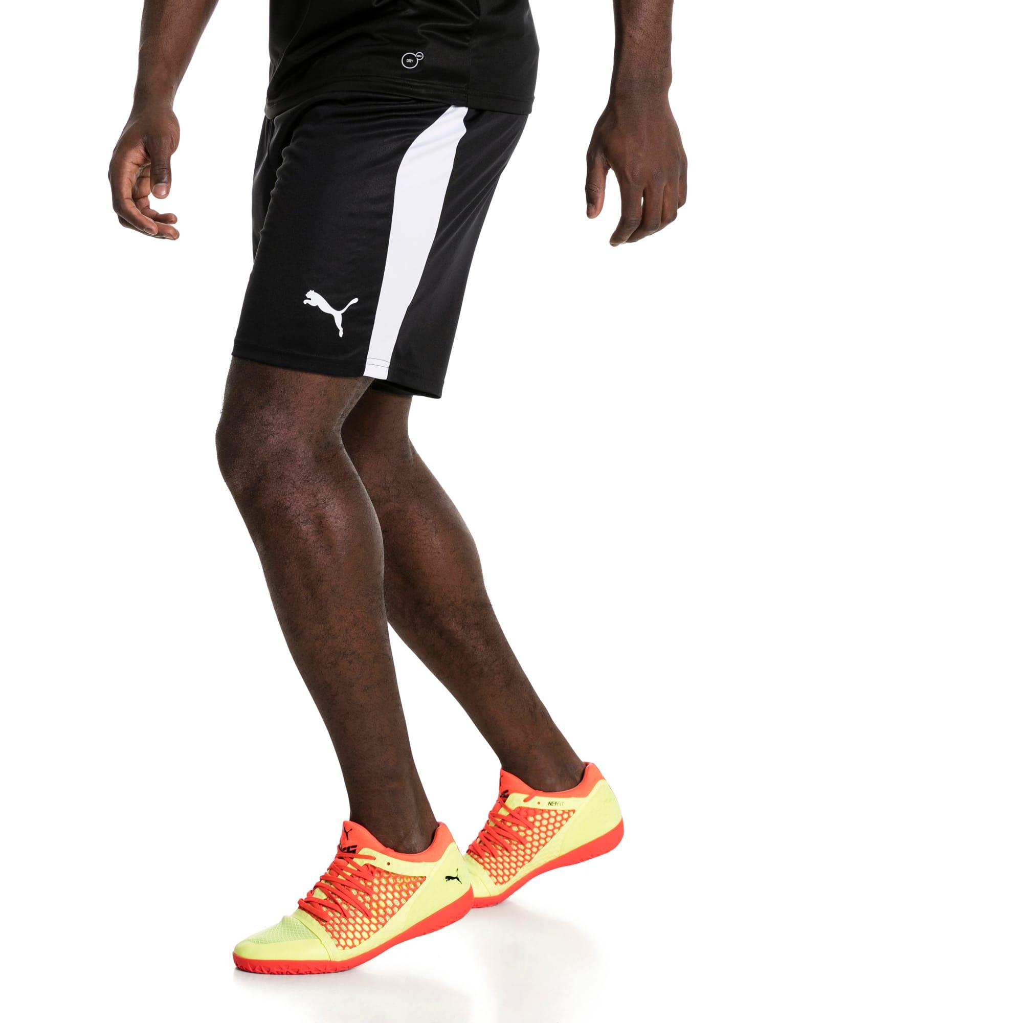 Thumbnail 2 of Liga Men's Shorts, Puma Black-Puma White, medium