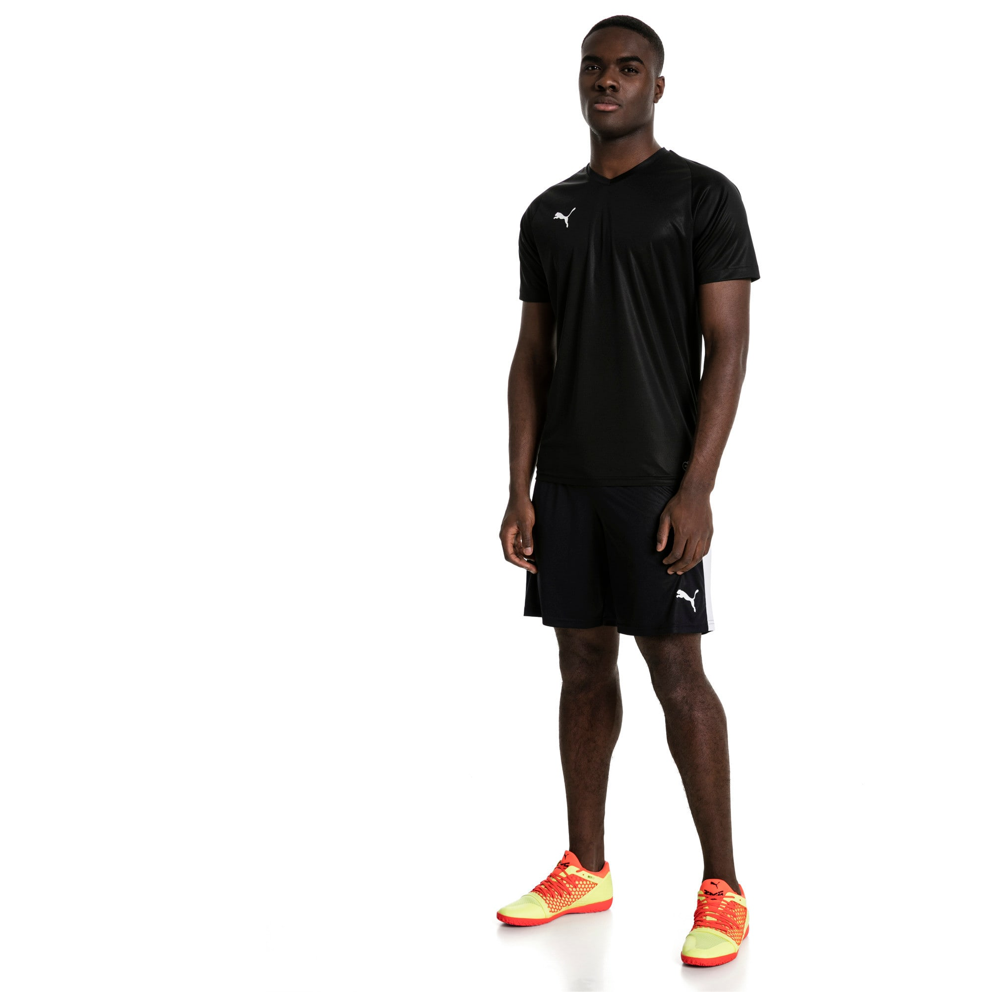 Thumbnail 5 of Liga Men's Shorts, Puma Black-Puma White, medium
