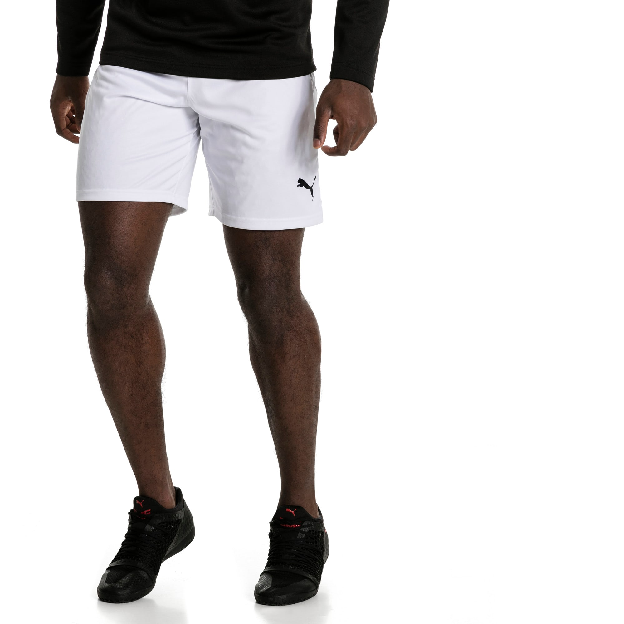 Thumbnail 2 of Liga Men's Shorts, Puma White-Puma Black, medium