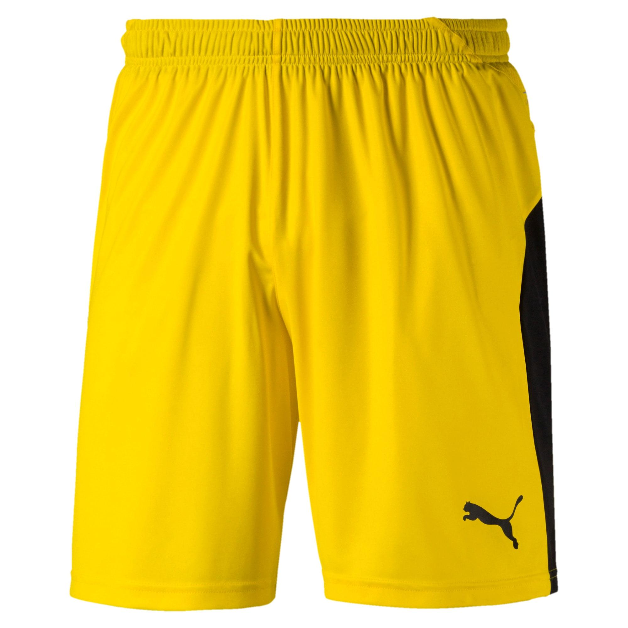 Thumbnail 1 of Liga Men's Shorts, Cyber Yellow-Puma Black, medium