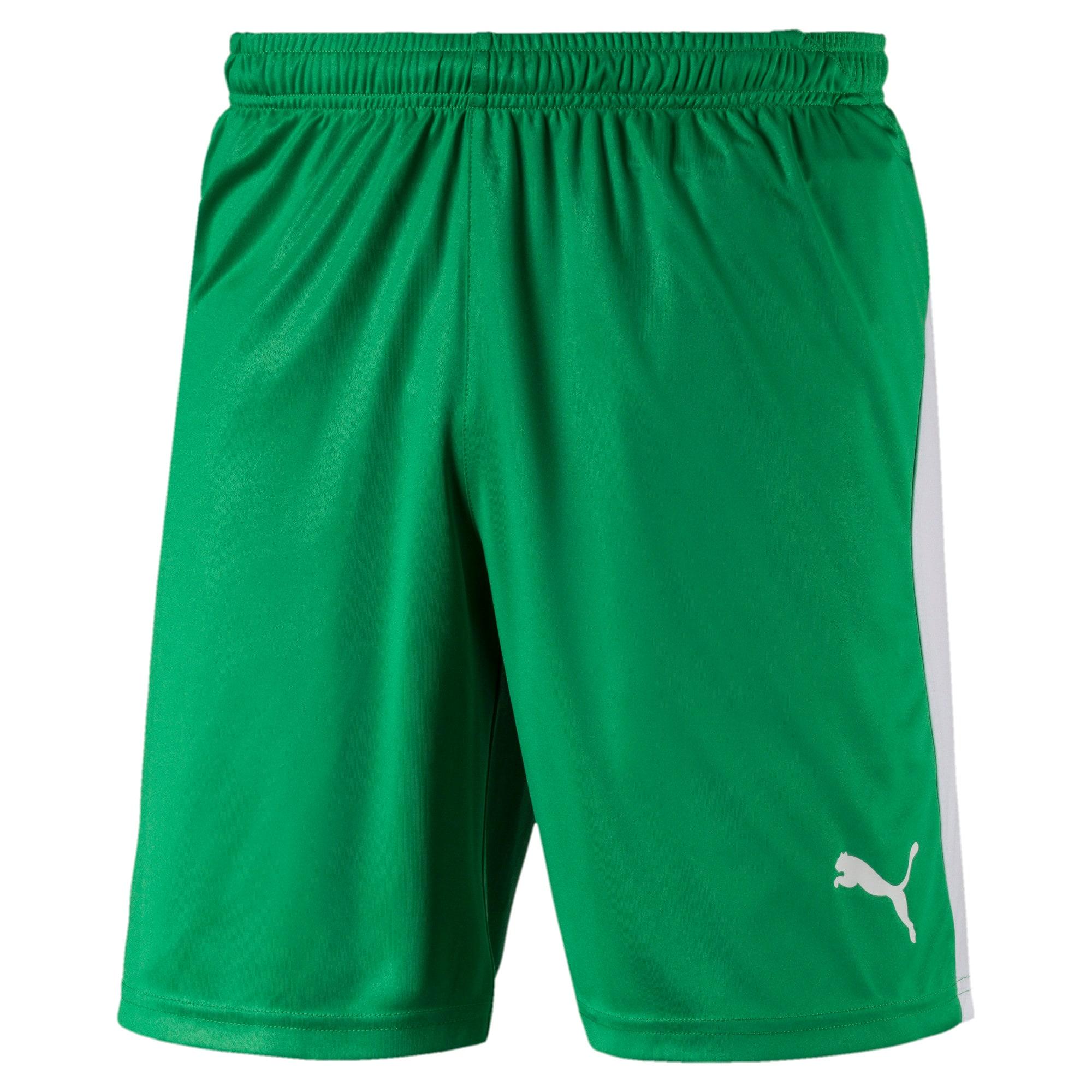 Thumbnail 1 of Liga Men's Shorts, Bright Green-Puma White, medium