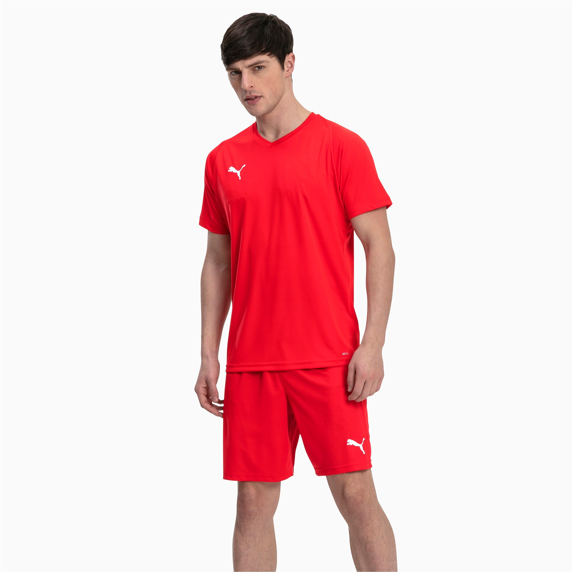 Thumbnail 3 of Liga Core Men's Shorts, Puma Red-Puma White, medium