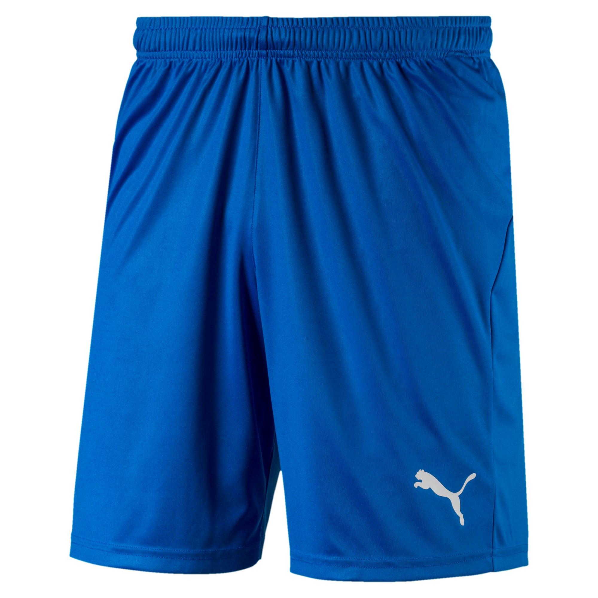 Thumbnail 4 of Liga Core Men's Shorts, Electric Blue Lemonade-White, medium
