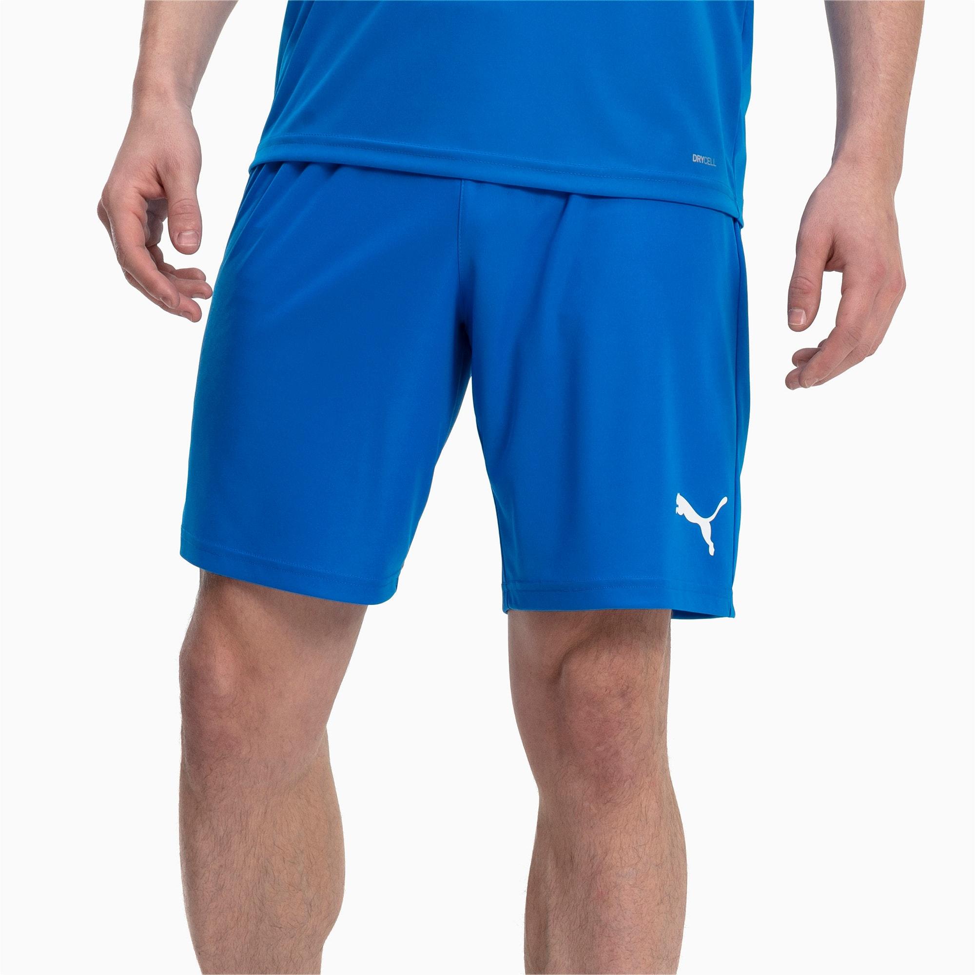 Thumbnail 1 of Liga Core Men's Shorts, Electric Blue Lemonade-White, medium