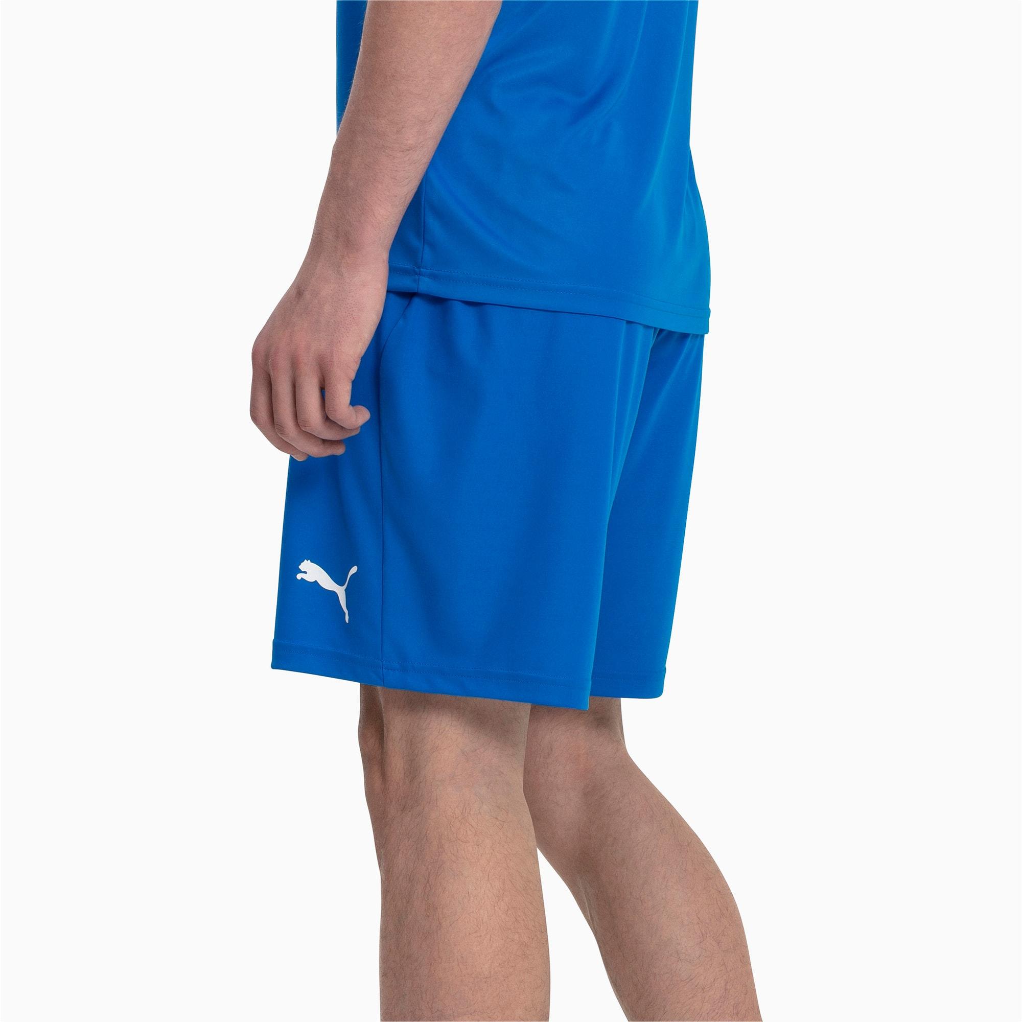 Thumbnail 2 of Liga Core Men's Shorts, Electric Blue Lemonade-White, medium