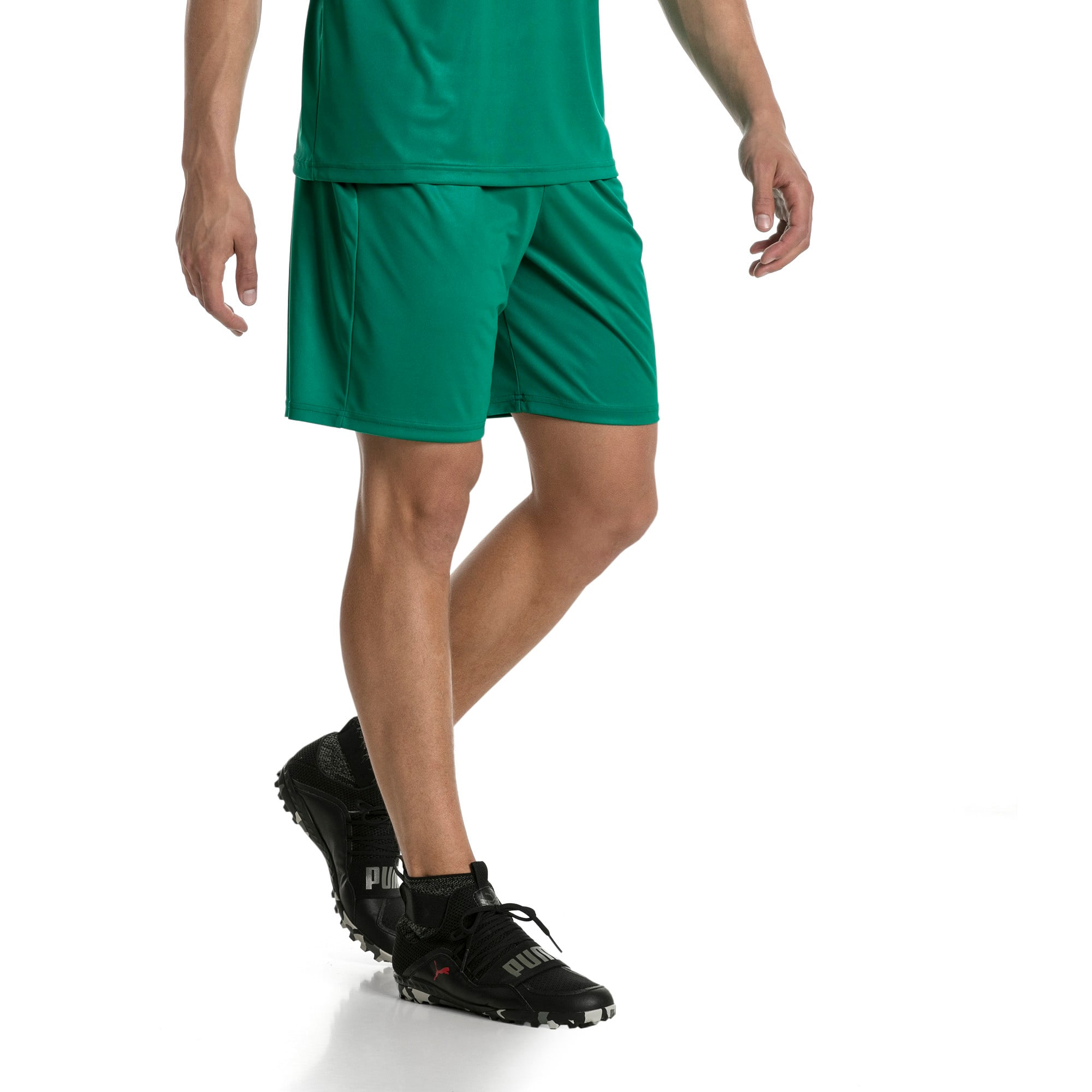 Thumbnail 2 of Liga Core Men's Shorts, Pepper Green-Puma White, medium
