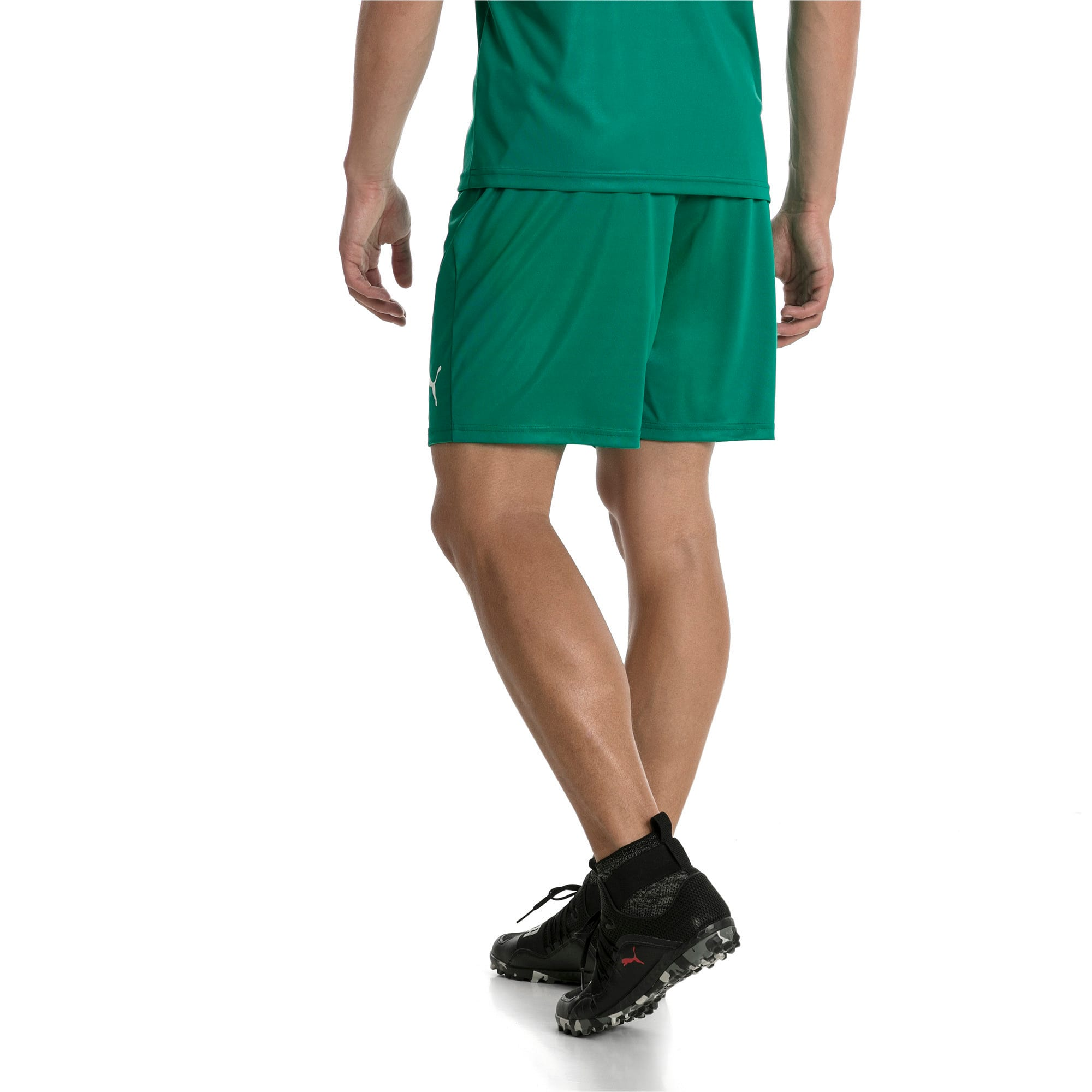 Thumbnail 3 of Liga Core Men's Shorts, Pepper Green-Puma White, medium
