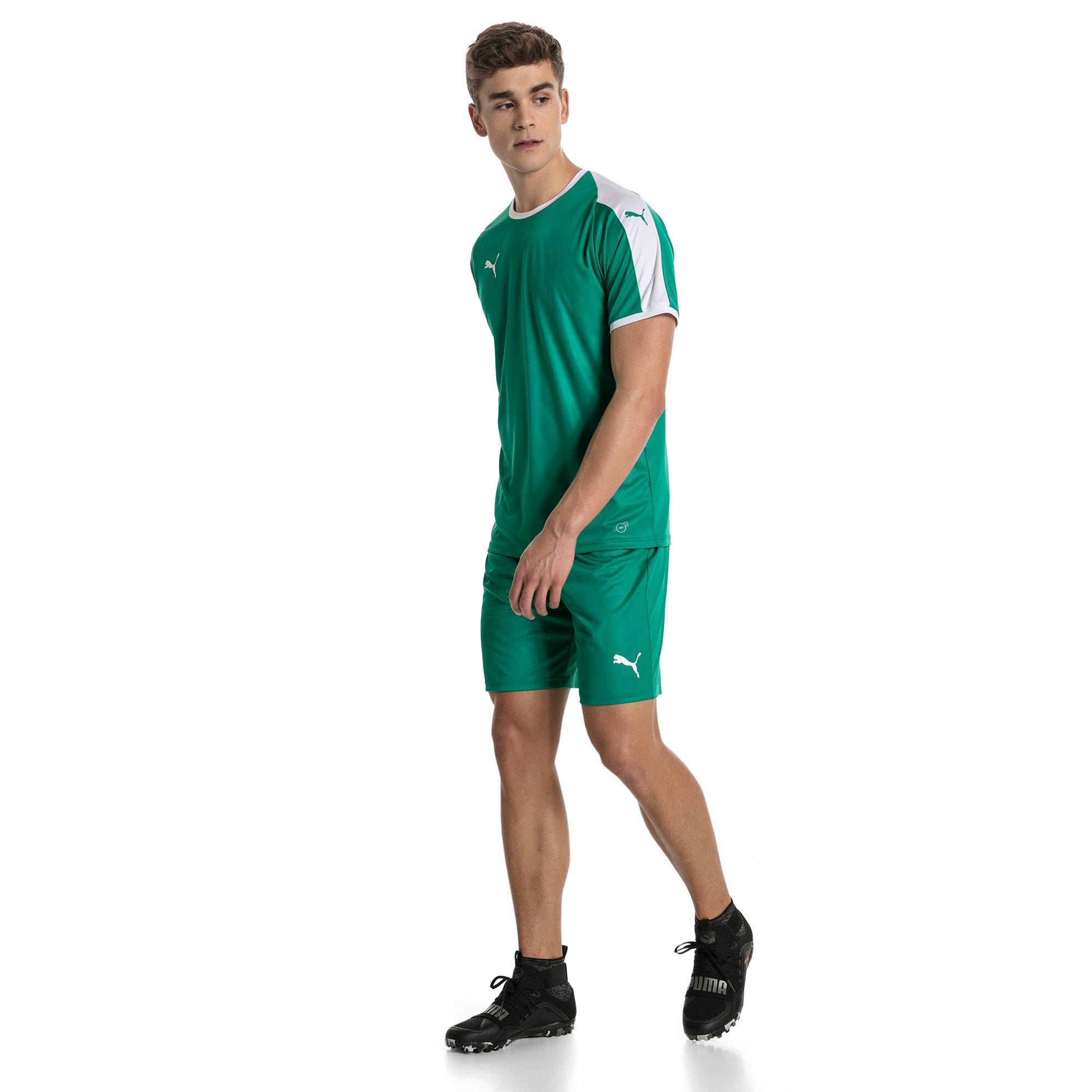 Thumbnail 5 of Liga Core Men's Shorts, Pepper Green-Puma White, medium