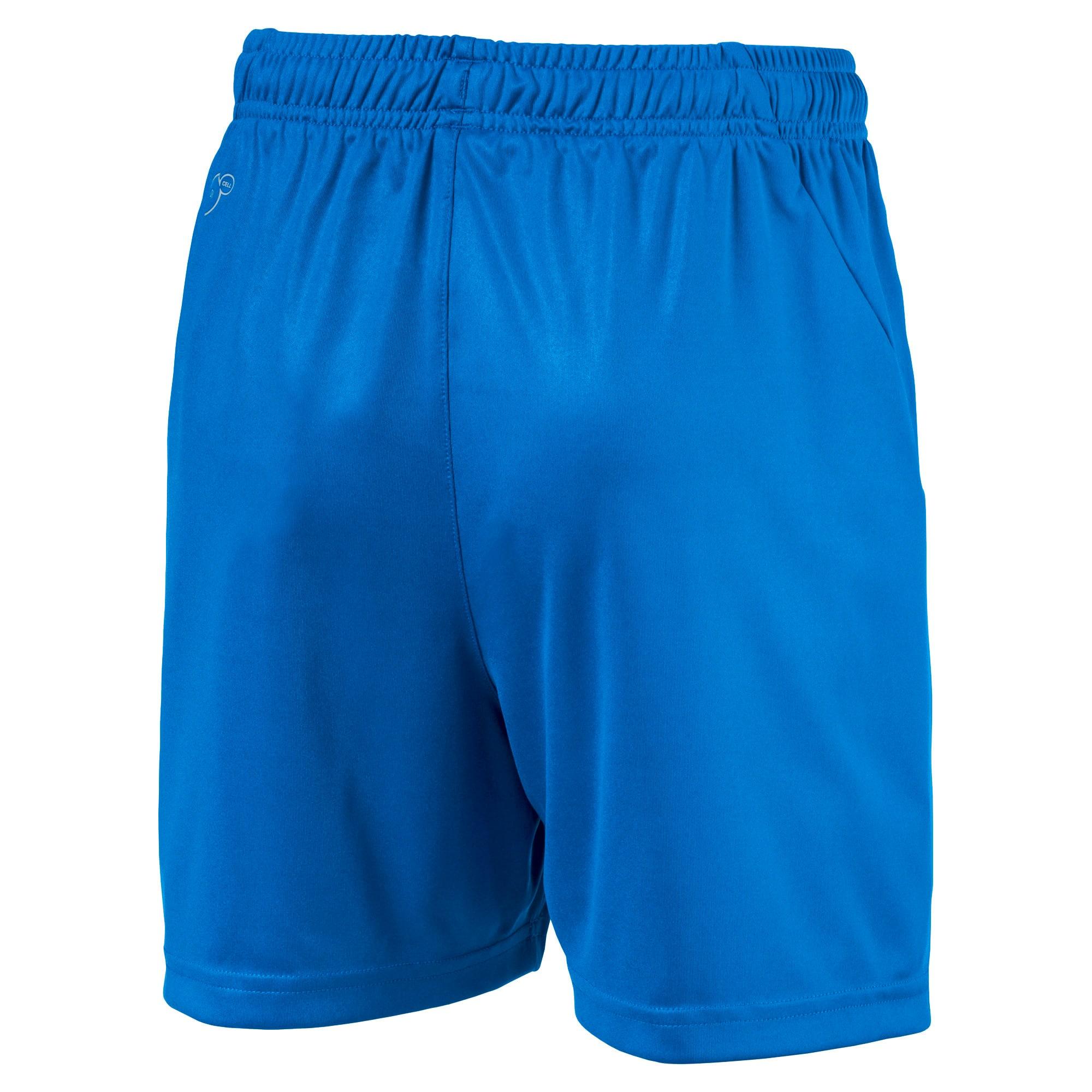 Thumbnail 2 of Liga Core Junior Football Shorts, Electric Blue Lemonade-White, medium