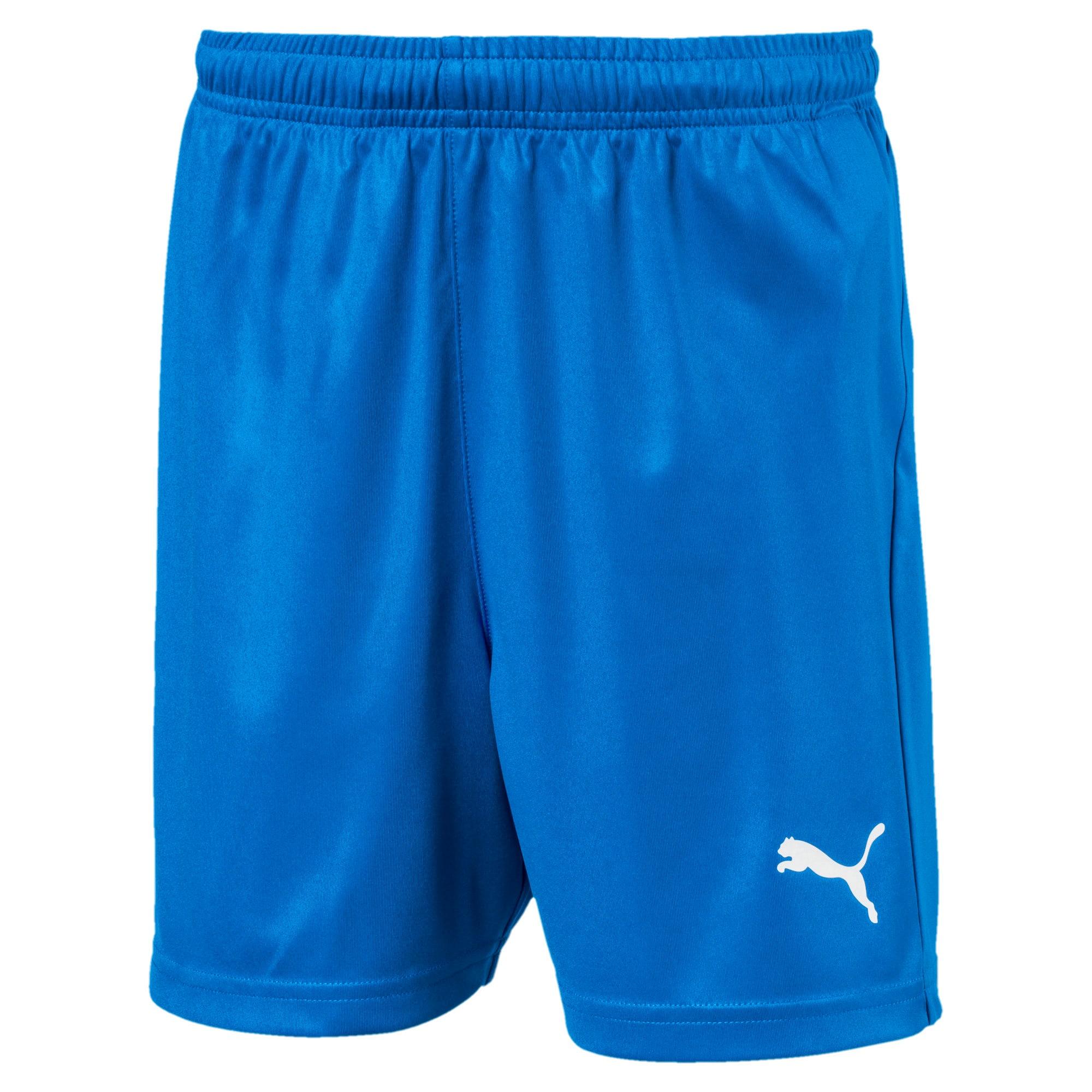 Thumbnail 1 of Liga Core Junior Football Shorts, Electric Blue Lemonade-White, medium
