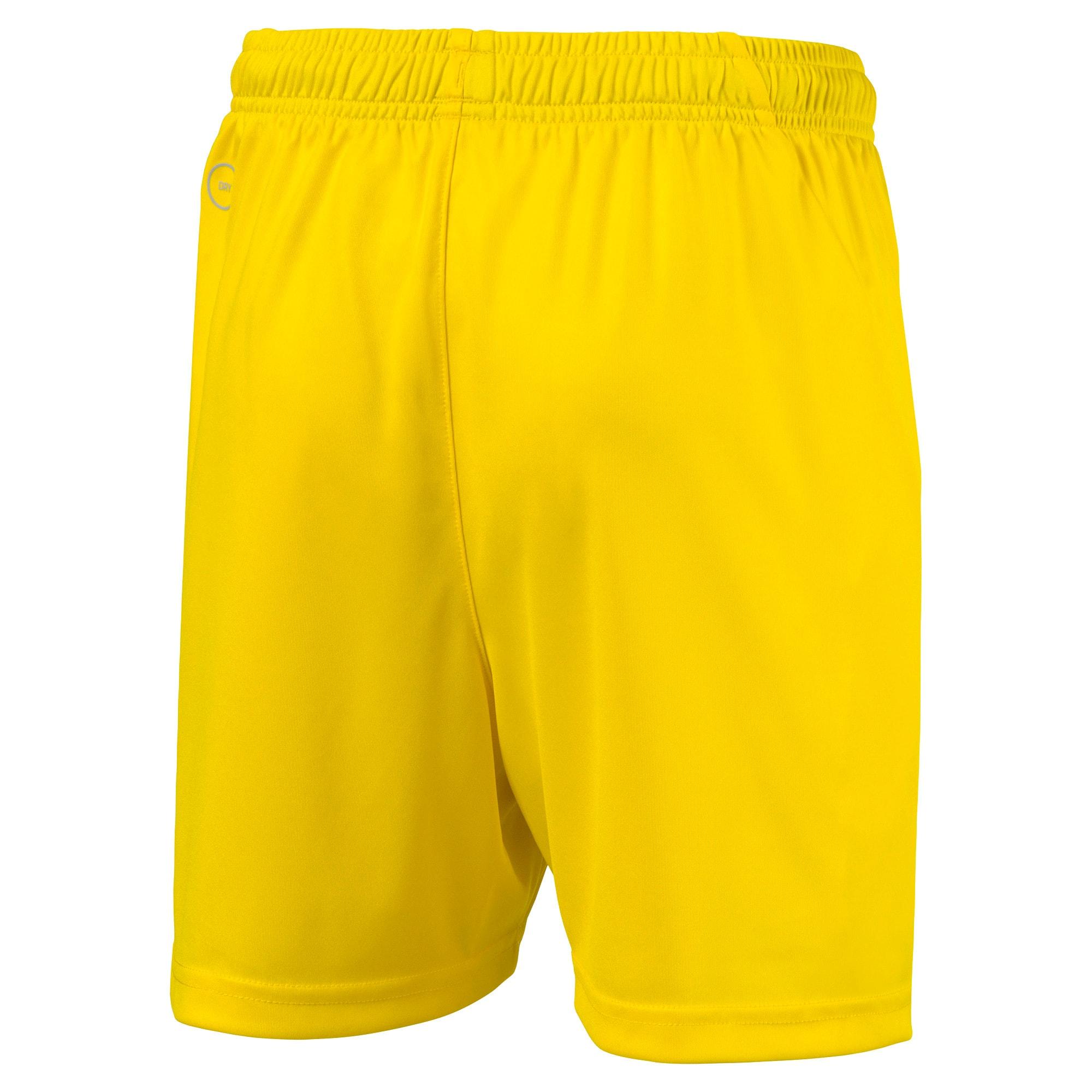 Thumbnail 2 of Liga Core Junior Football Shorts, Cyber Yellow-Puma Black, medium