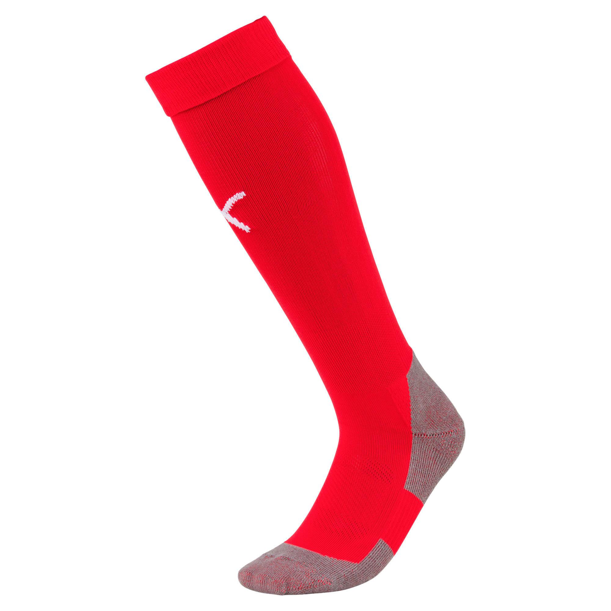 Thumbnail 1 of Football Men's LIGA Core Socks, Puma Red-Puma White, medium