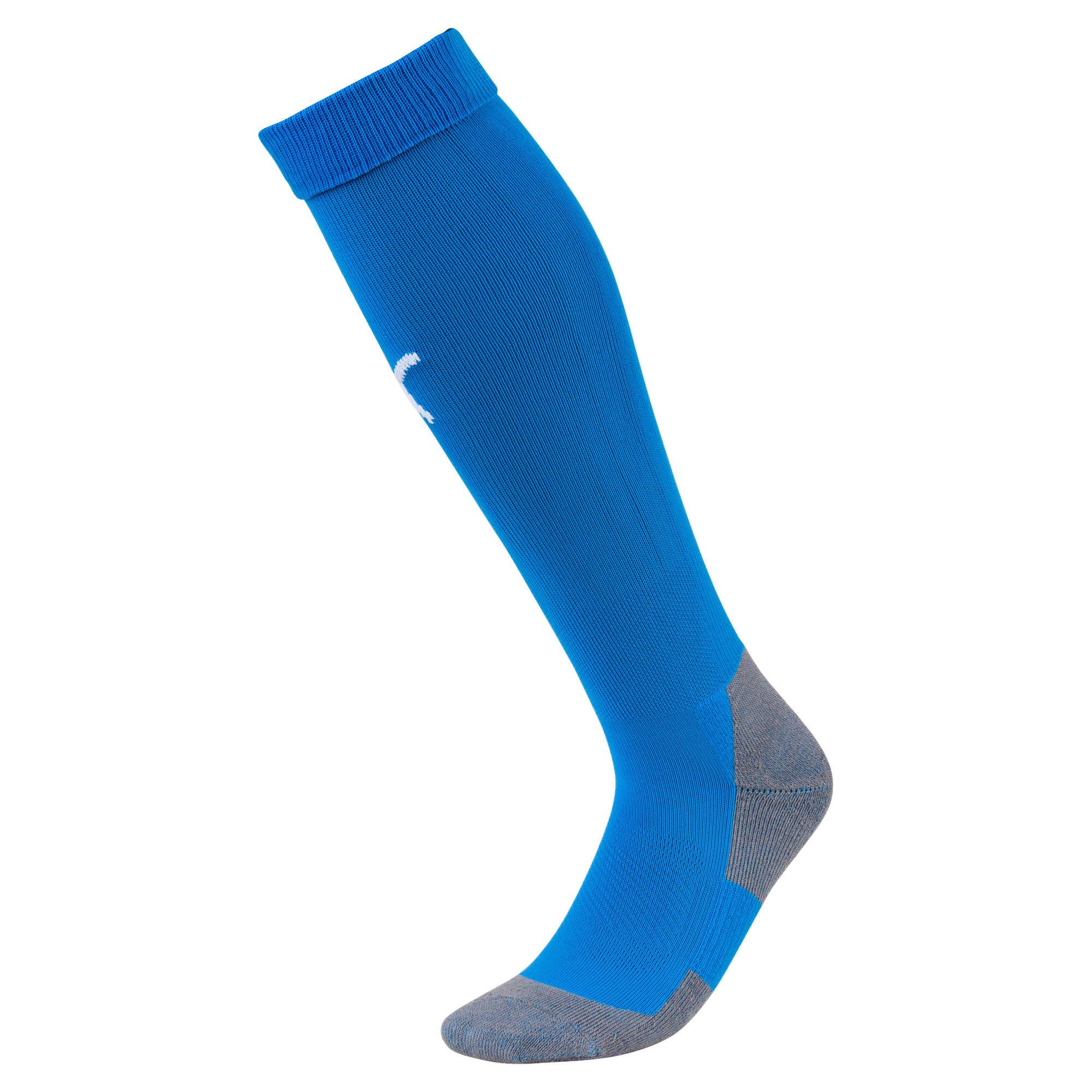 Thumbnail 1 of Football Men's LIGA Core Socks, Electric Blue L-Puma White, medium