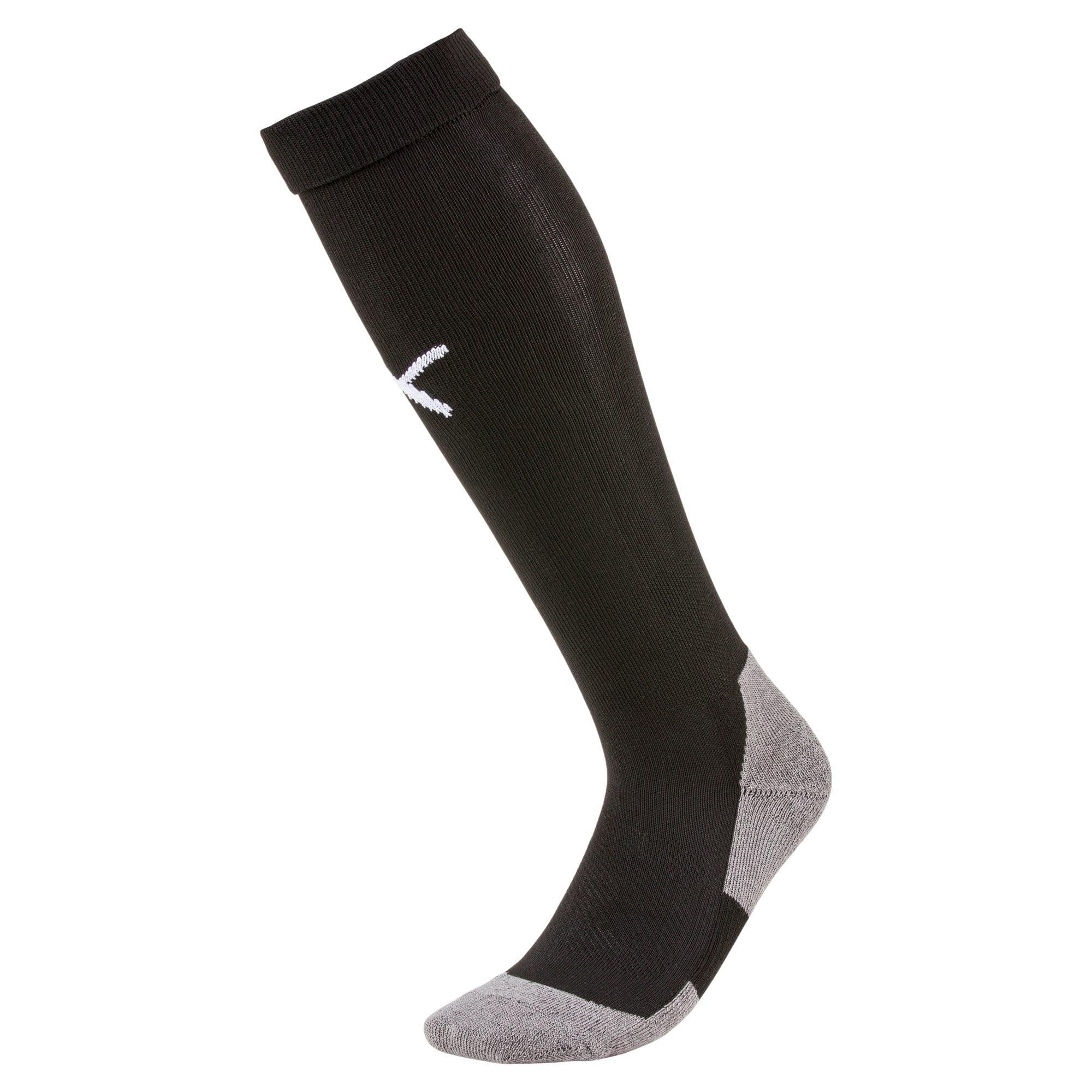 Thumbnail 1 of Football Men's LIGA Core Socks, Puma Black-Puma White, medium