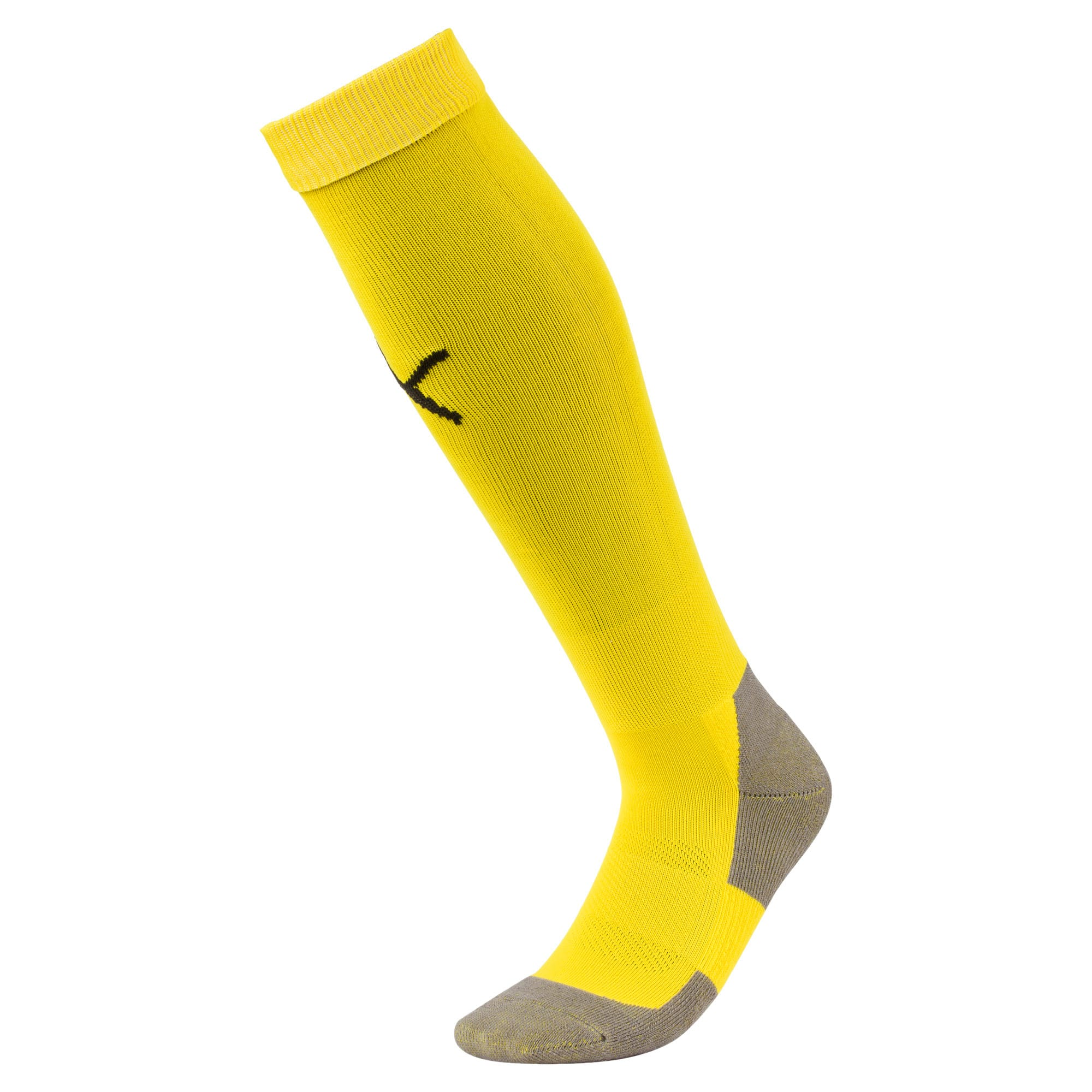 Thumbnail 1 of Football Men's LIGA Core Socks, Cyber Yellow-Puma Black, medium