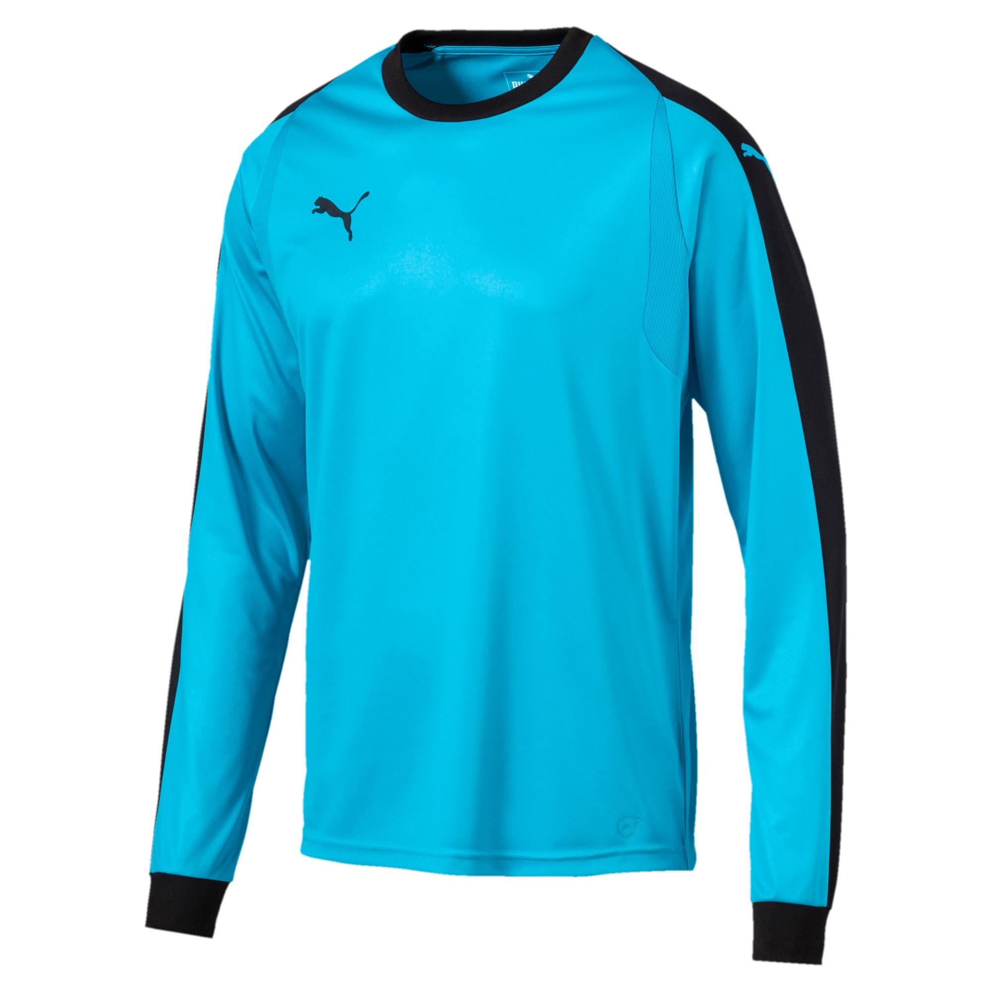 Thumbnail 1 of LIGA Long Sleeve Men's Football Goalkeeper Jersey, AQUARIUS-Puma Black, medium