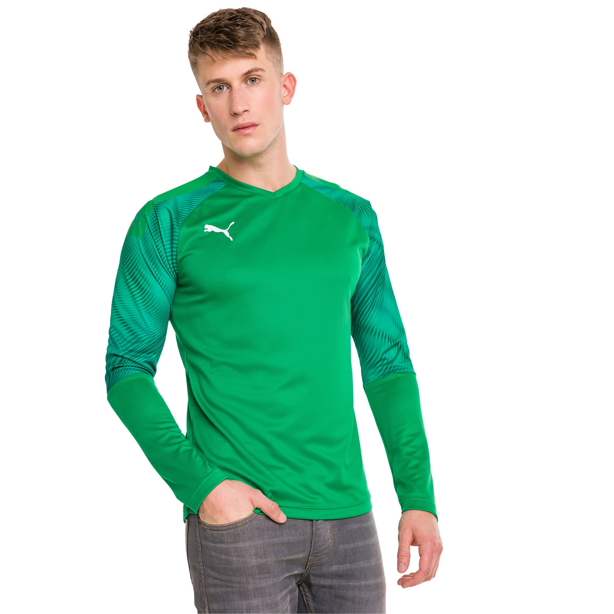 Thumbnail 1 of CUP Long Sleeve Men's Goalkeeper Jersey, Bright Green-Prism Violet, medium