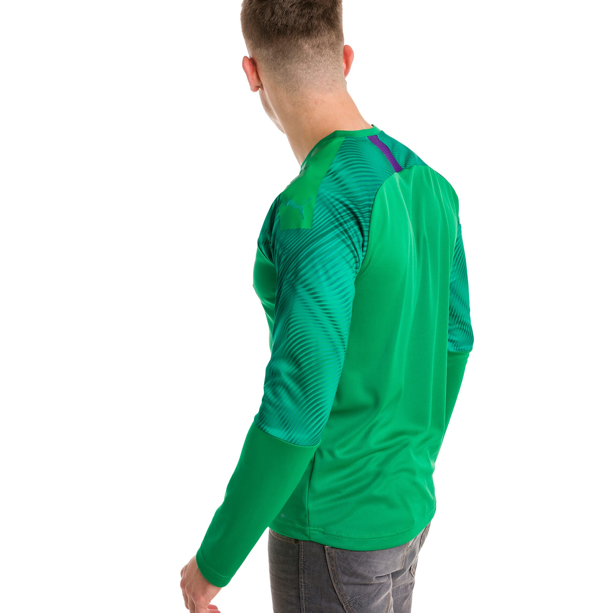 Thumbnail 2 of CUP Long Sleeve Men's Goalkeeper Jersey, Bright Green-Prism Violet, medium