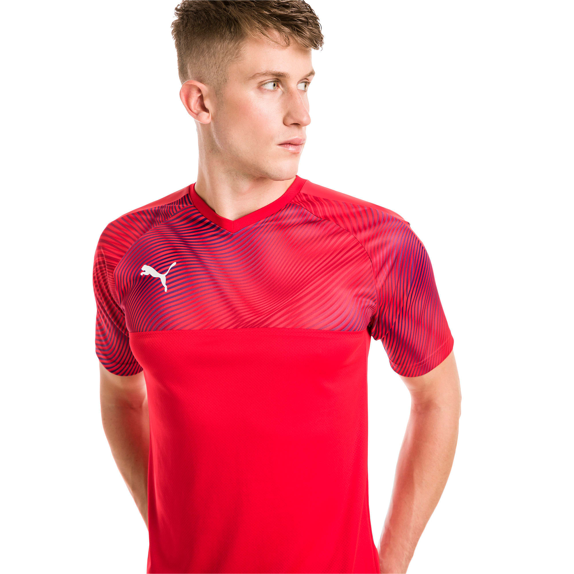 Thumbnail 1 of CUP Men's Football Jersey, Puma Red-Puma White, medium