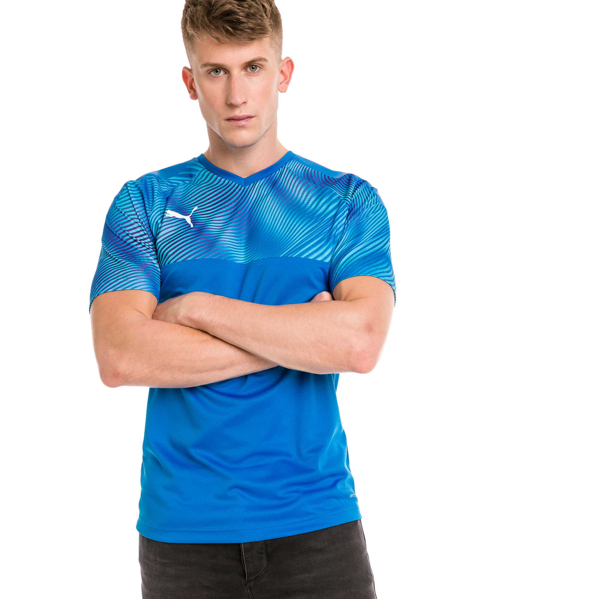 CUP Men's Football Jersey, Electric, large