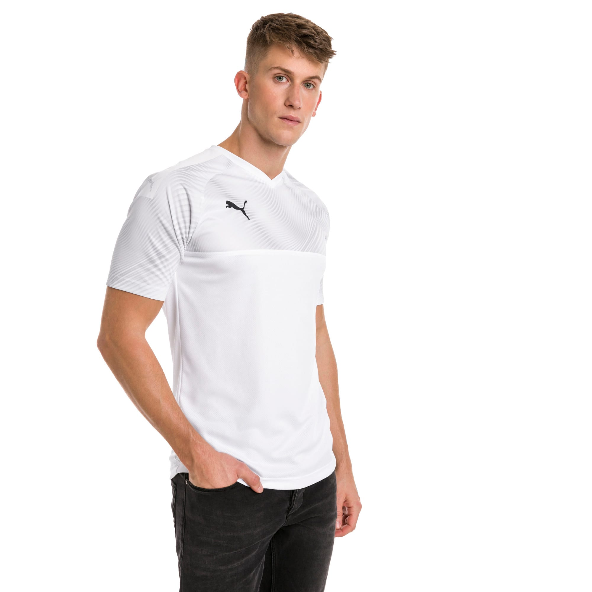 CUP Men's Football Jersey, Puma White-Puma Black, large