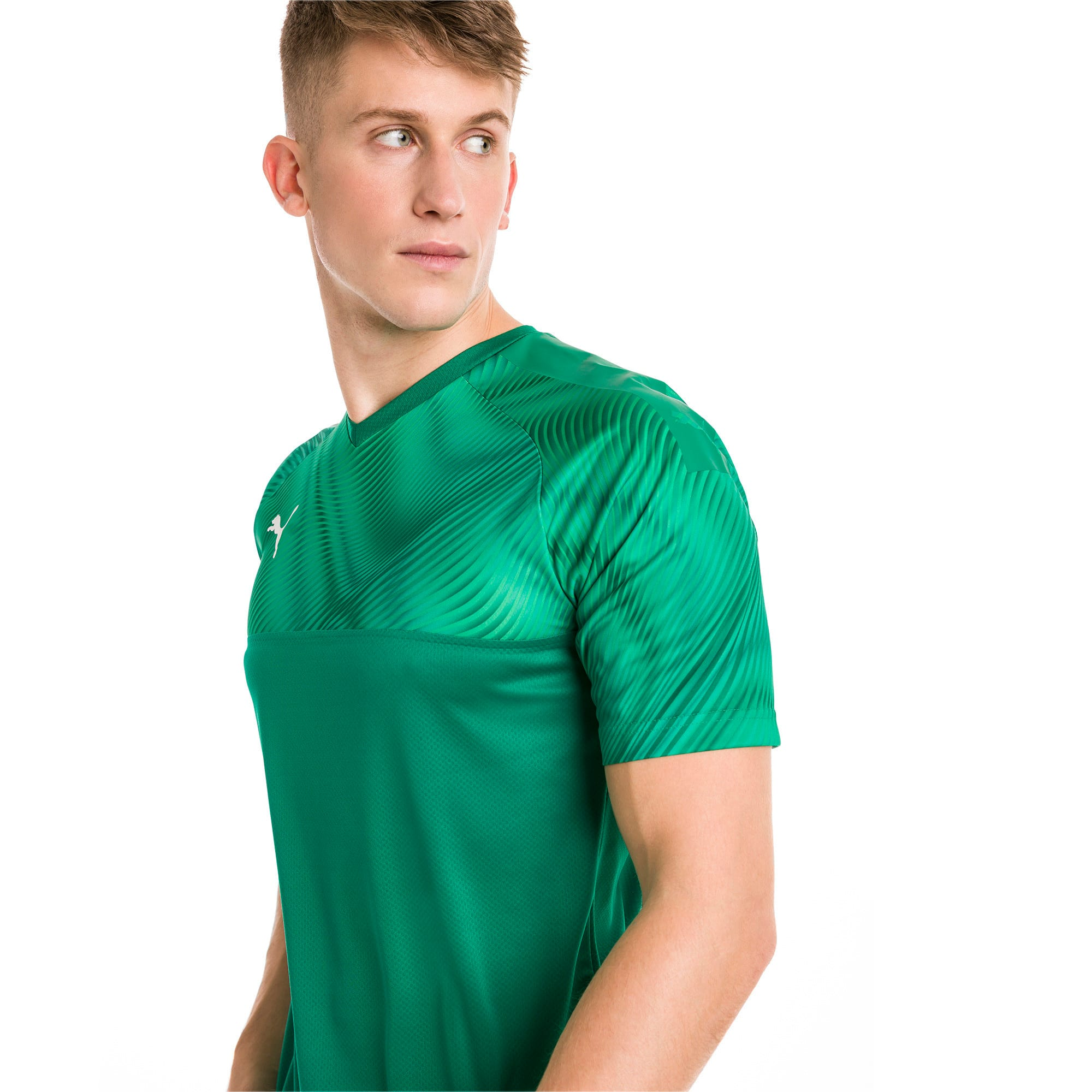 CUP Men's Football Jersey, Pepper Green-Puma White, large