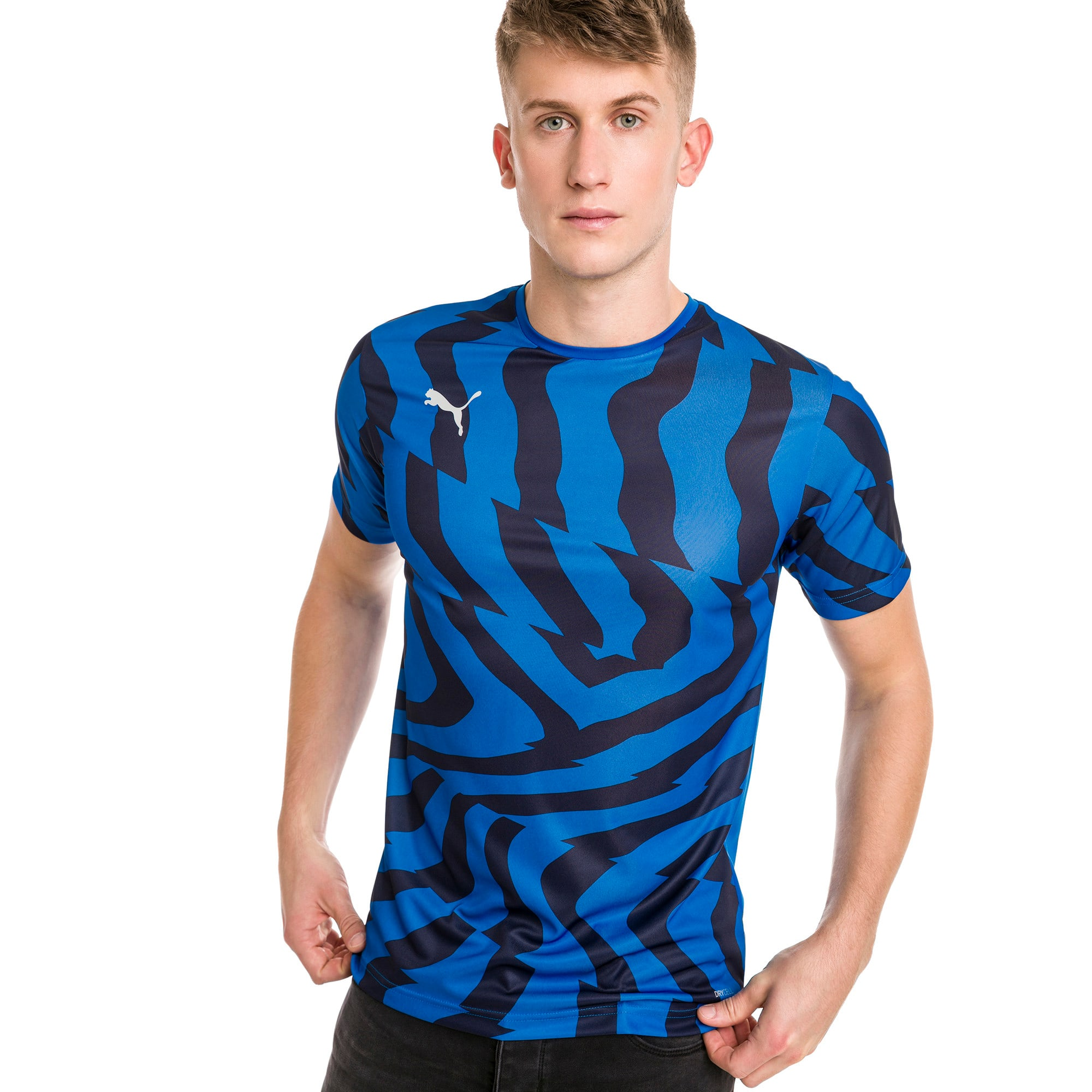 Thumbnail 1 of CUP Core Men's Football Jersey, Electric Blue-Puma White, medium