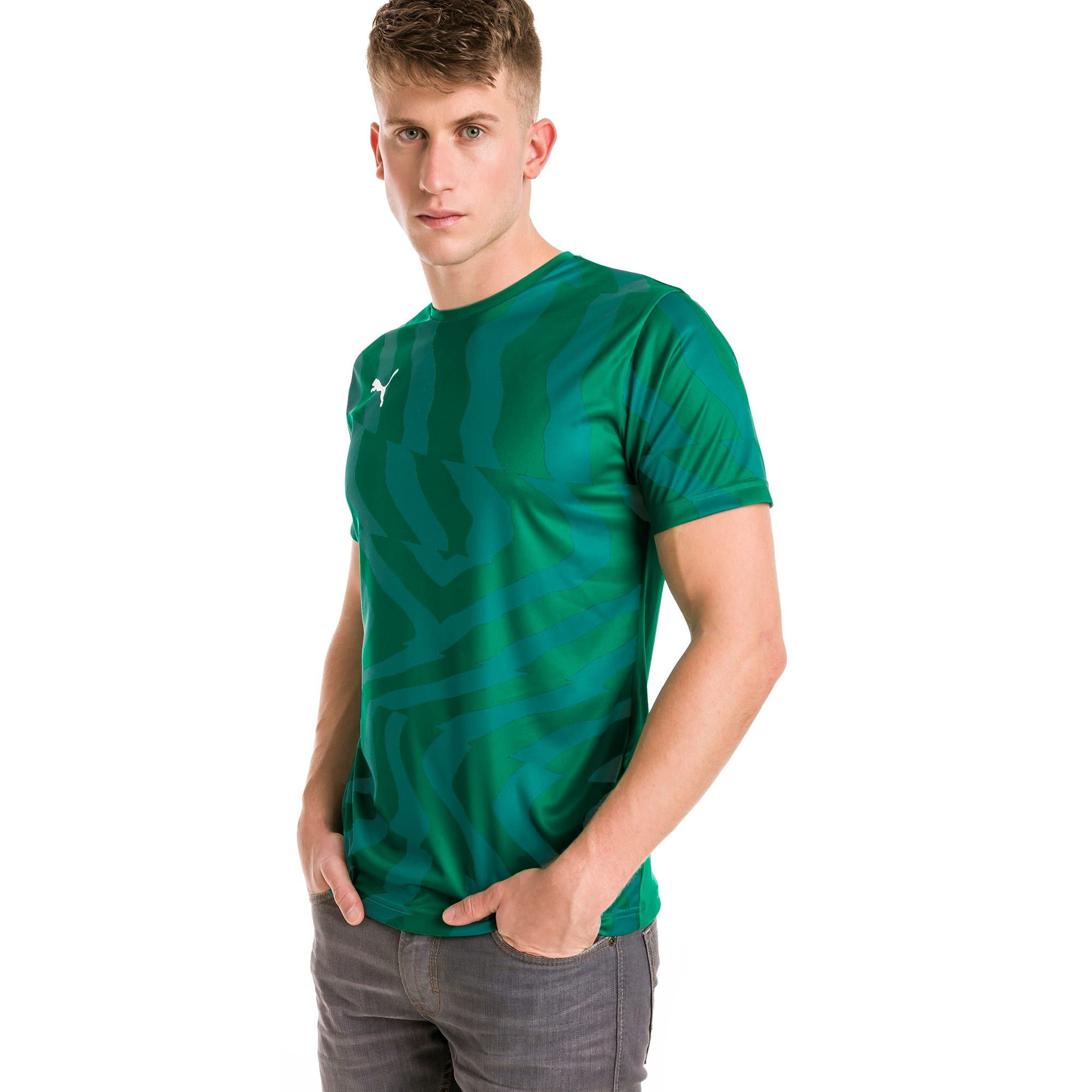 CUP Core Men's Football Jersey, Pepper Green-Puma White, large