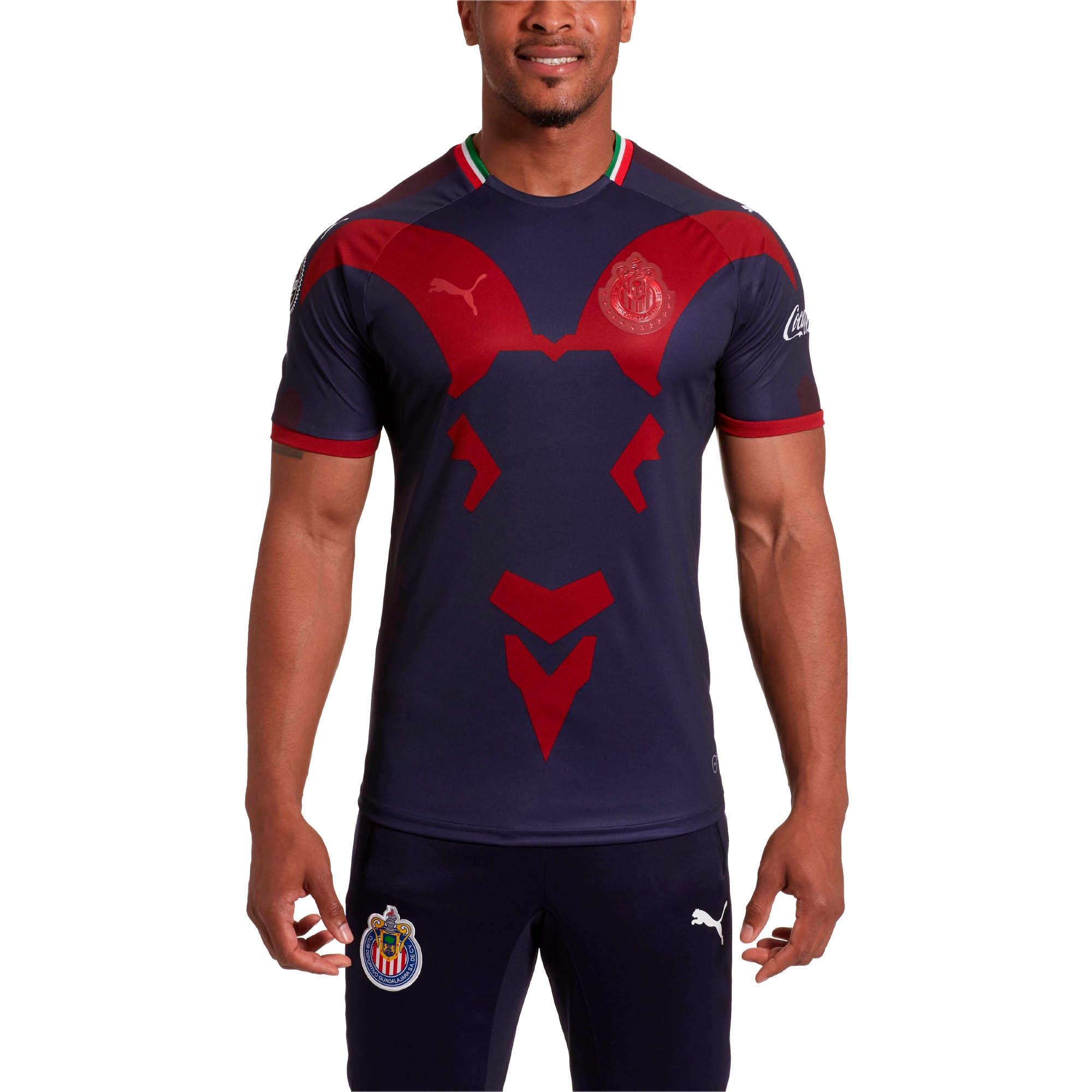 Miniatura 2 de Camiseta Chivas Alt Rep 18 para hombre, Peacoat-Chili Pepper, mediano