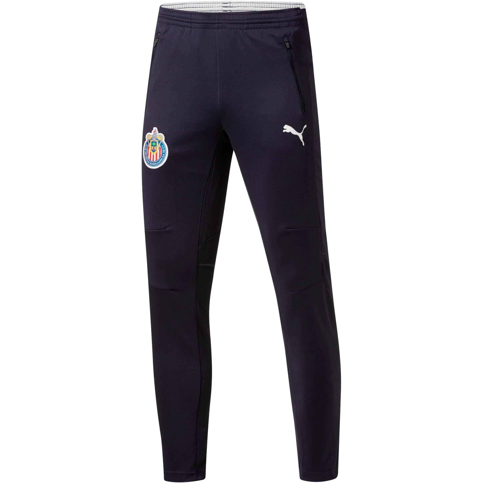 PUMA Mens Standard Ac Milan Training Pants with Zipped Pocket