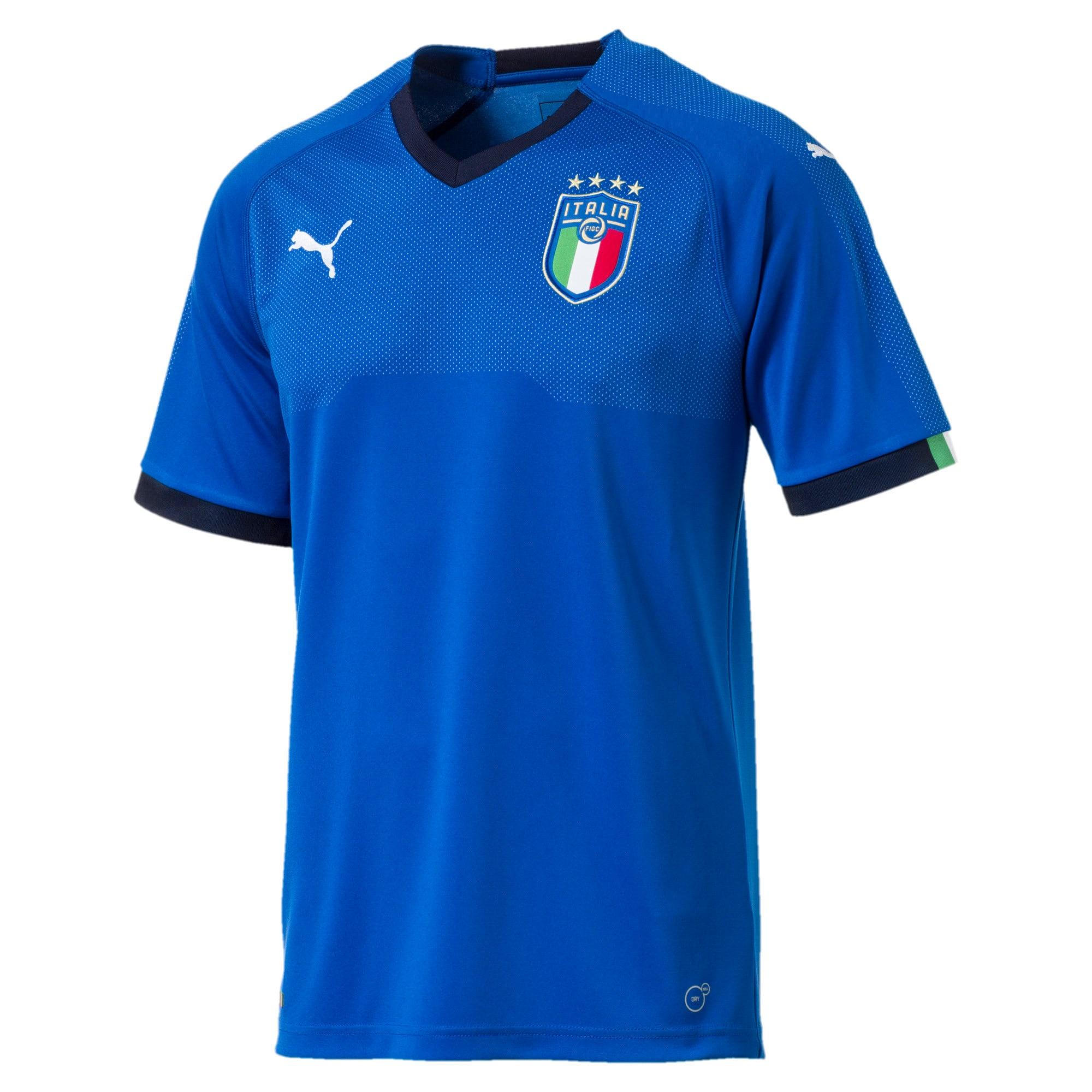 Thumbnail 4 of FIGC ITALIA HOME SHIRT REPLICA, Team Power Blue-Peacoat, medium-JPN