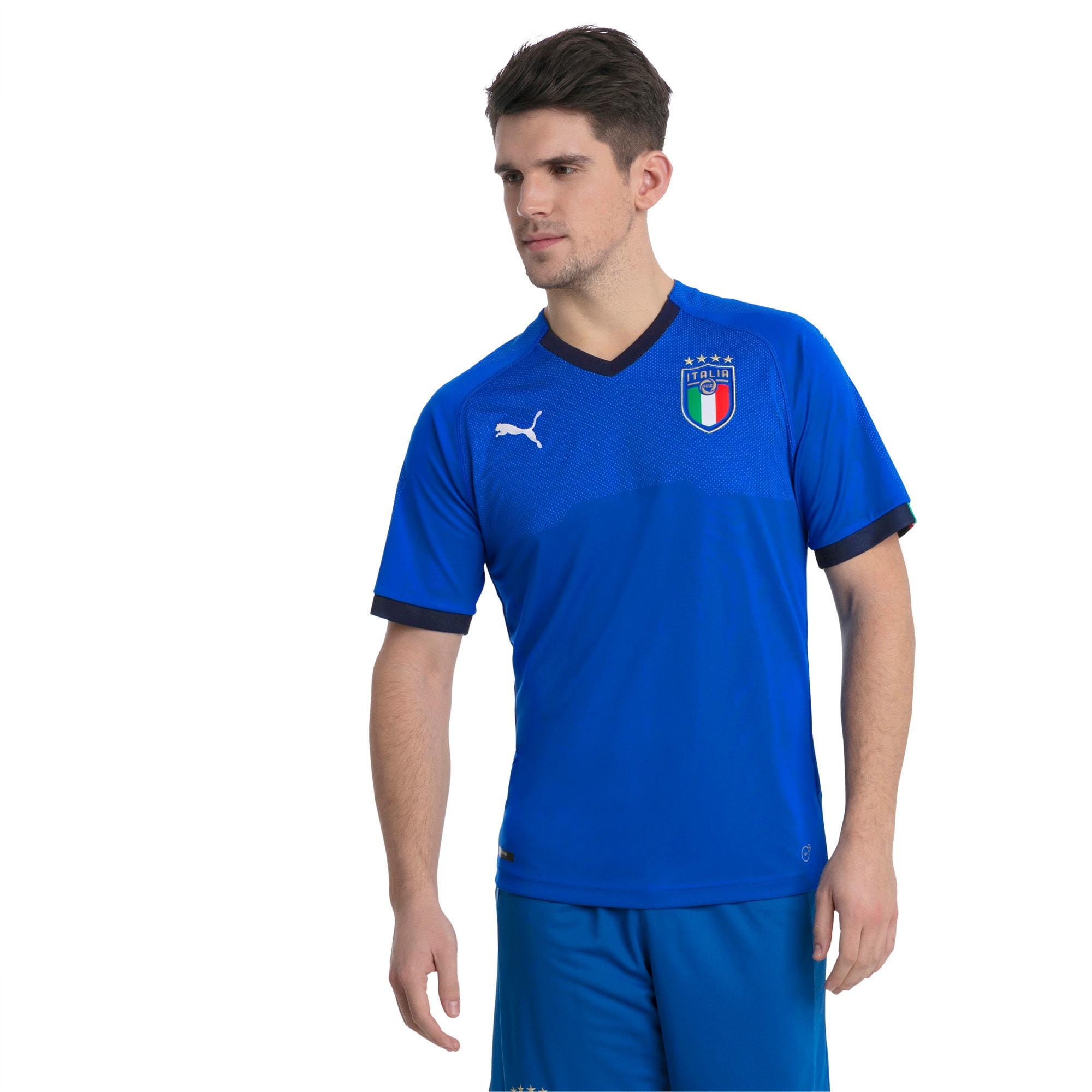 Thumbnail 1 of FIGC ITALIA HOME SHIRT REPLICA, Team Power Blue-Peacoat, medium-JPN