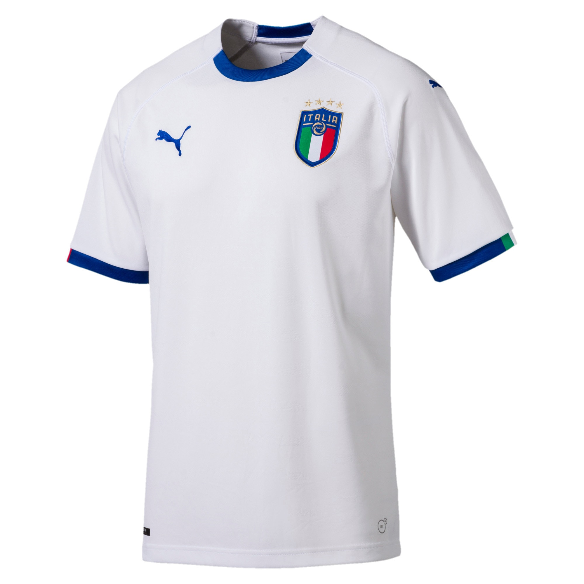 Thumbnail 4 of FIGC Away Men's Short Sleeve Replica Shirt, Puma White-Team Power Blue, medium