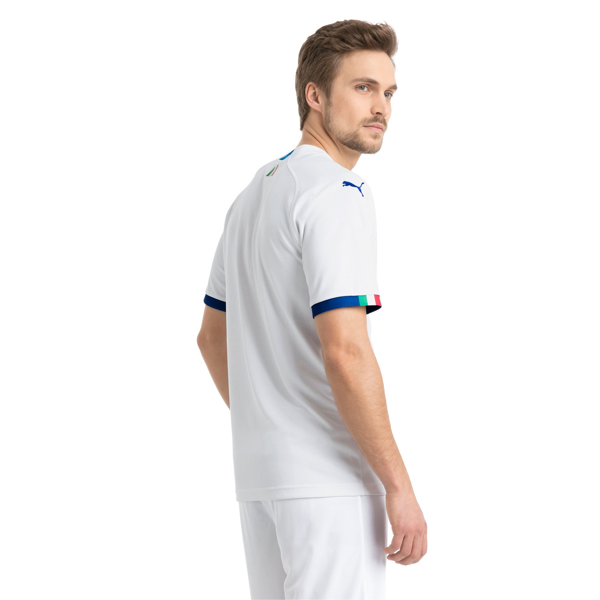 Thumbnail 2 of FIGC Away Men's Short Sleeve Replica Shirt, Puma White-Team Power Blue, medium