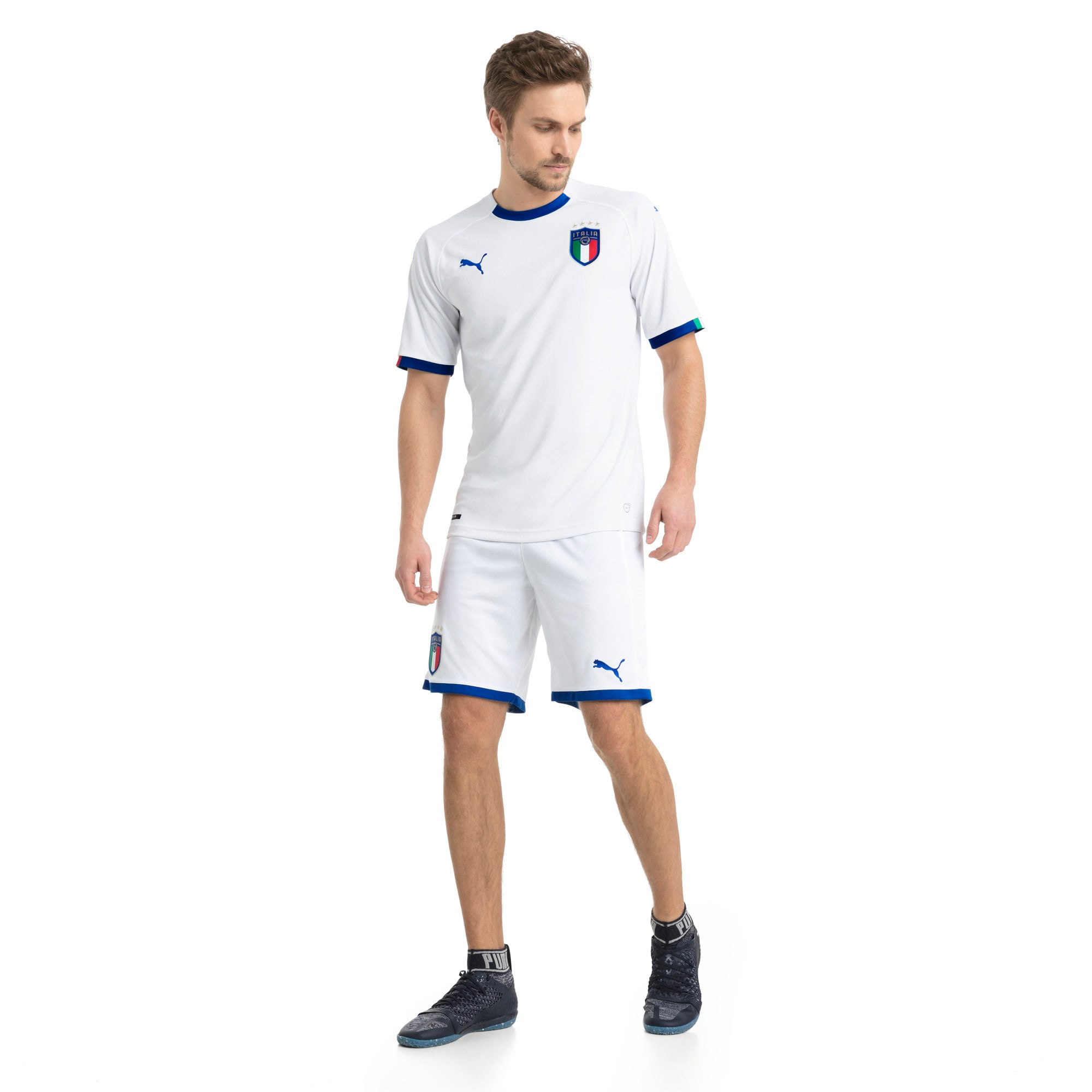 Thumbnail 3 of FIGC Away Men's Short Sleeve Replica Shirt, Puma White-Team Power Blue, medium