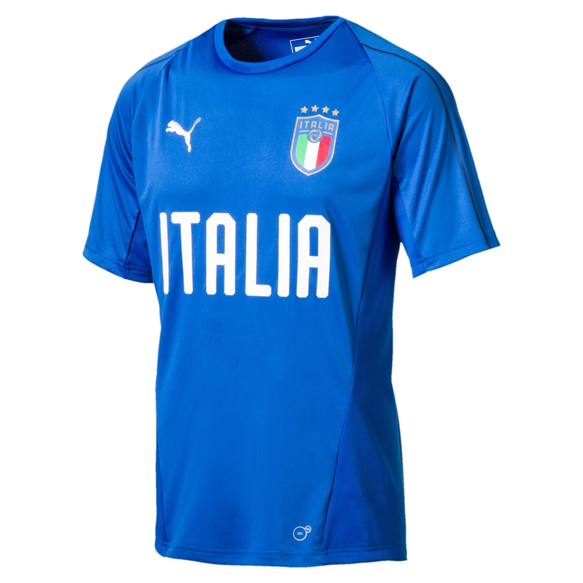 Thumbnail 1 of FIGC ITALIA トレーニングジャージー SS, Team Power Blue-Puma White, medium-JPN