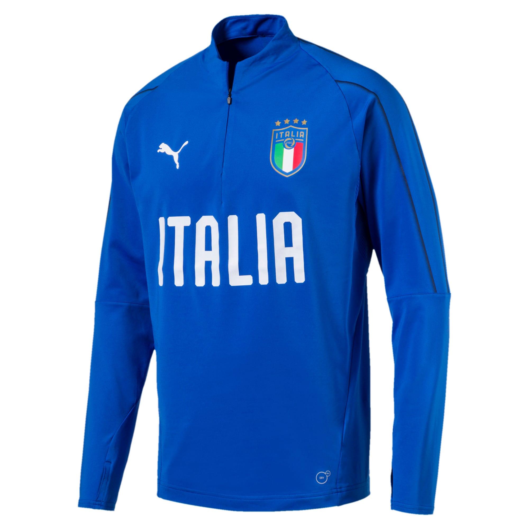 Thumbnail 1 of Italia 1/4 Zip Training Top, Team Power Blue-White, medium