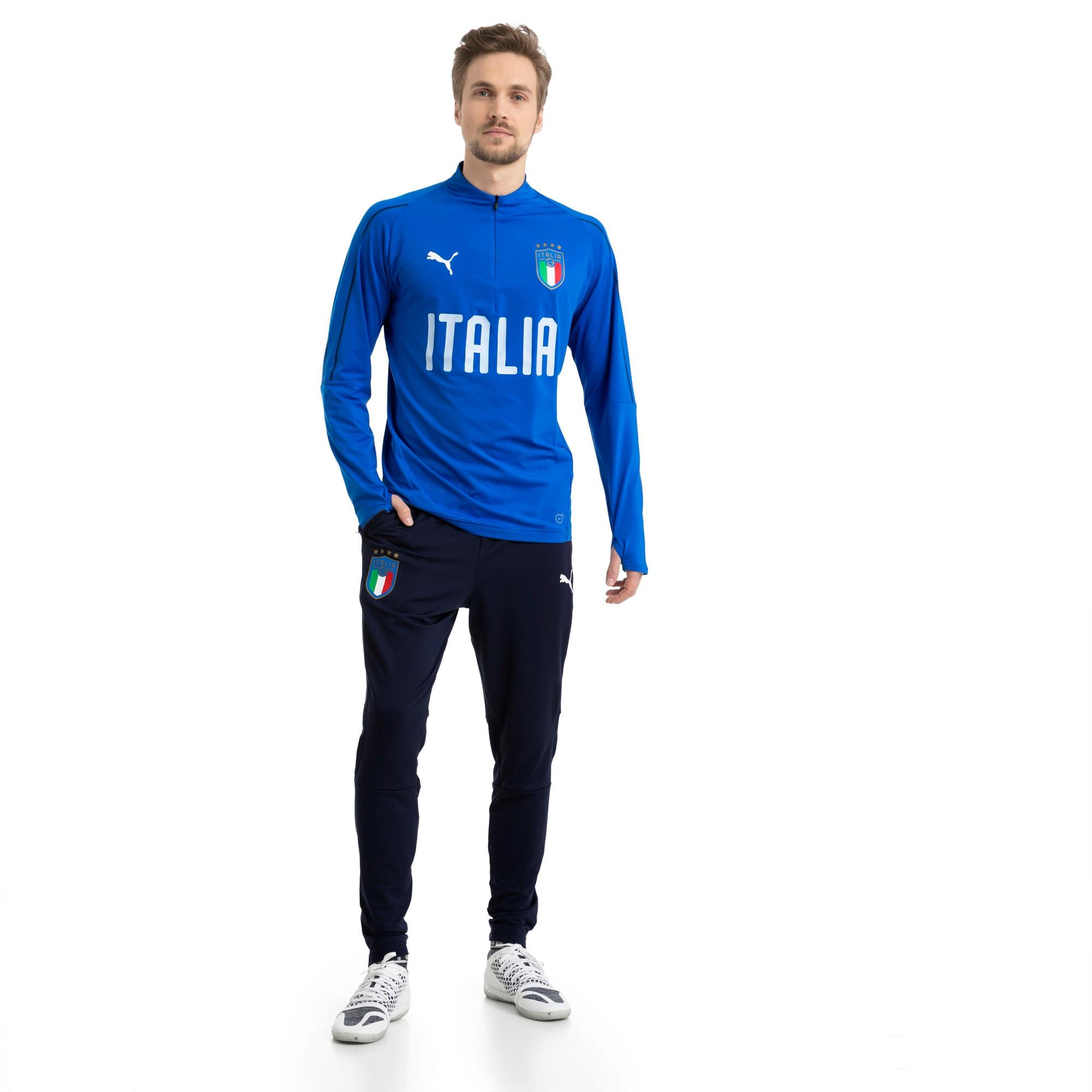 Thumbnail 5 of Italia 1/4 Zip Training Top, Team Power Blue-White, medium
