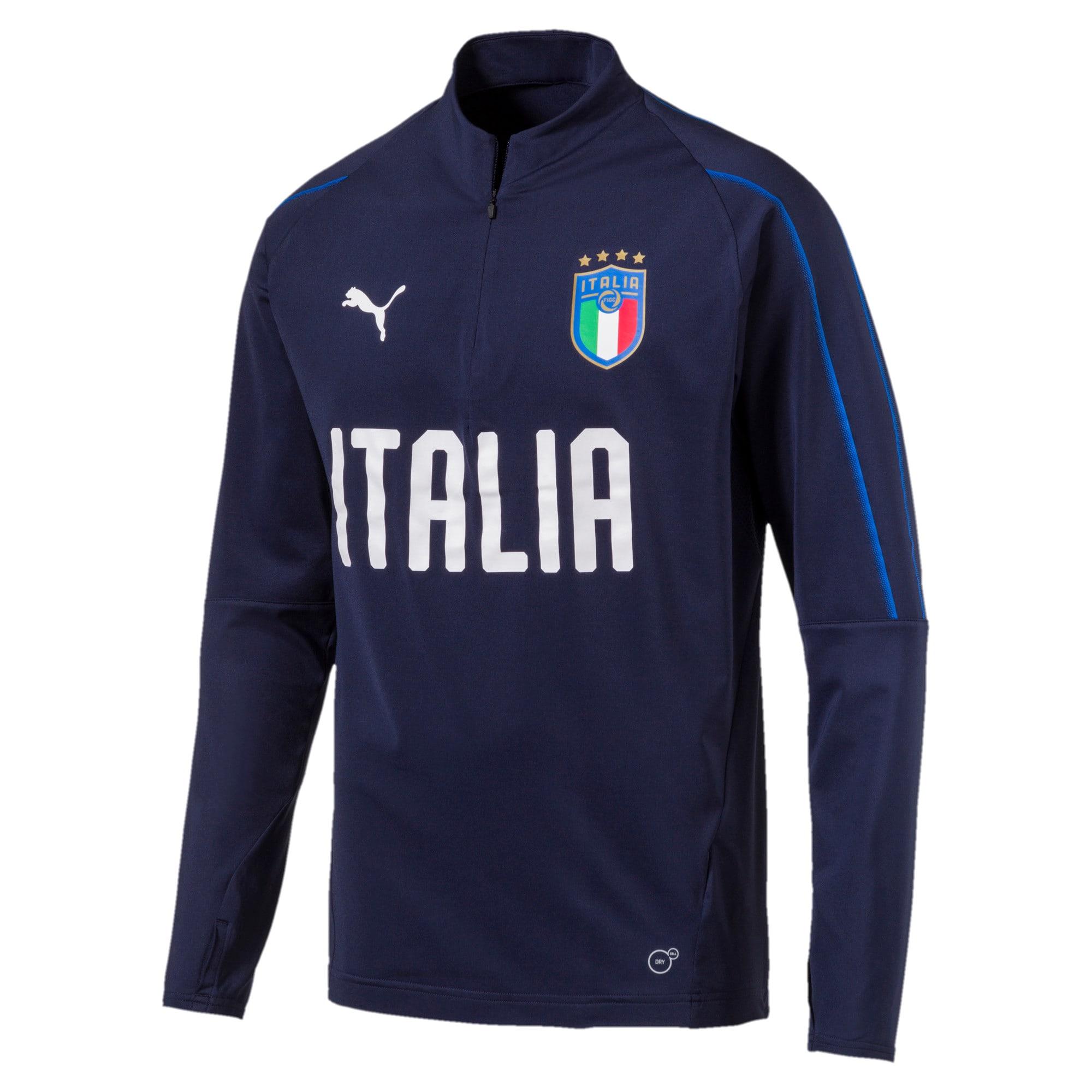 Thumbnail 1 of Italia 1/4 Zip Training Top, Peacoat-Team Power Blue, medium