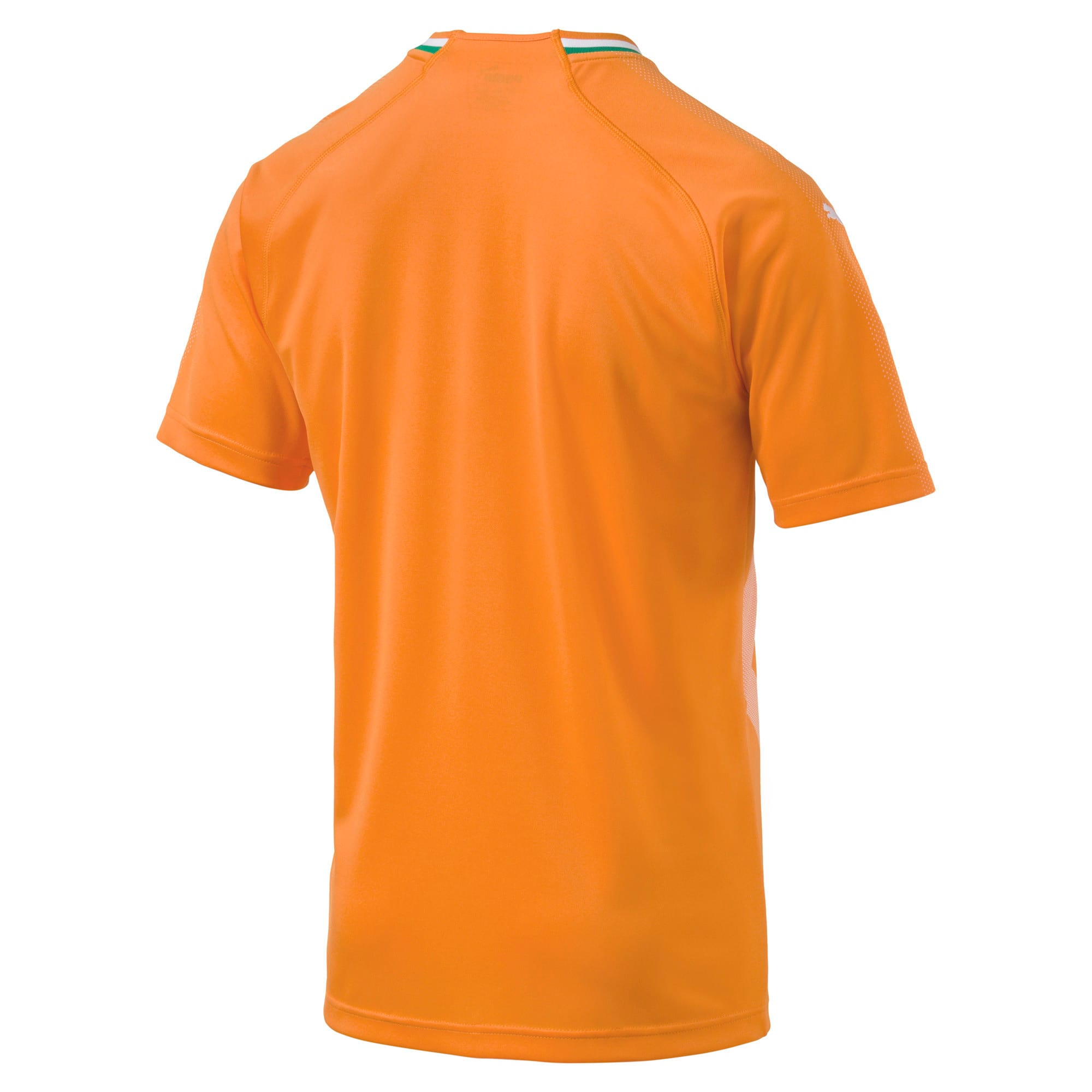 Thumbnail 5 of Ivory Coast Home Replica Jersey, Flame Orange-Pepper Green, medium